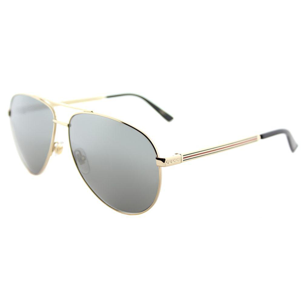 4f2df738e3f Gucci GG 0137s 002 Gold Aviator Sunglasses in Metallic - Lyst