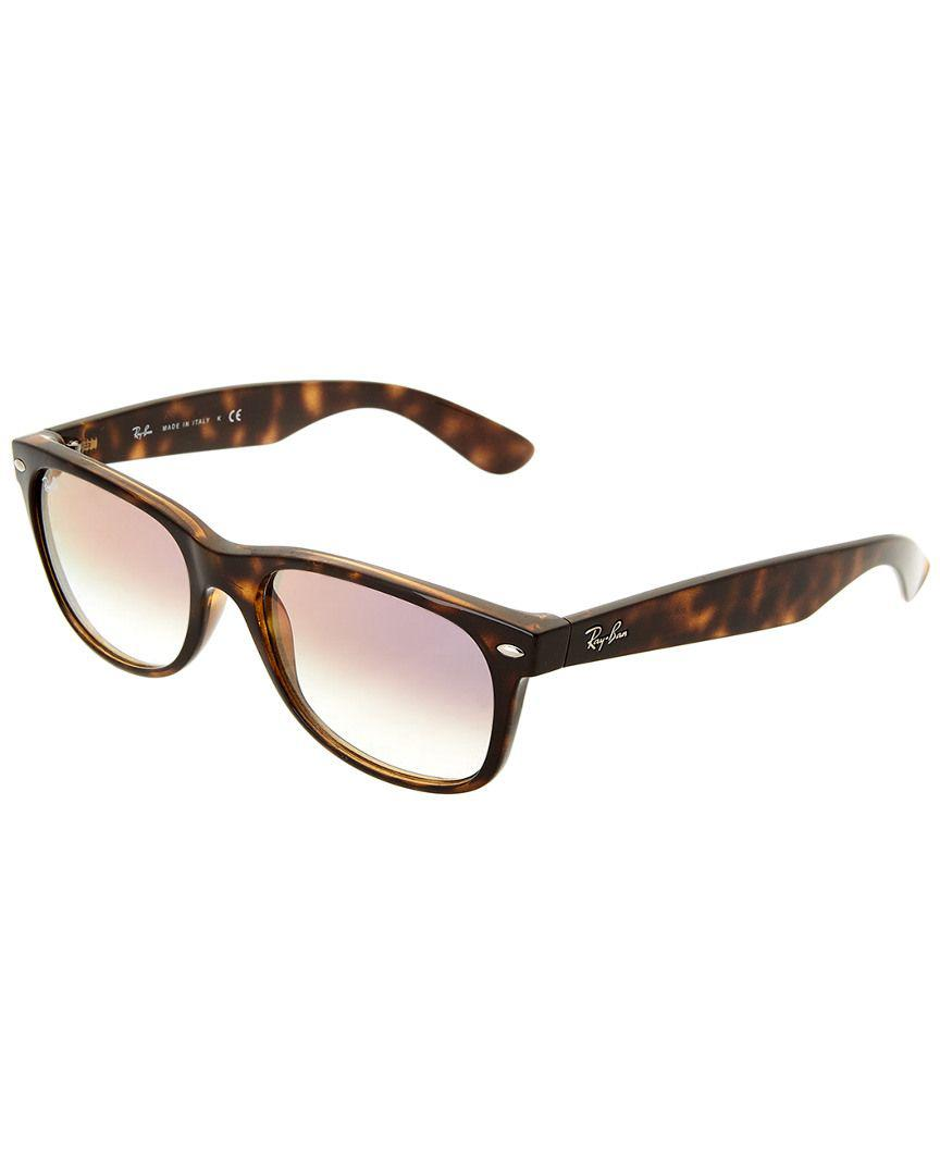 c5d3bf99b4 Lyst - Ray-Ban Unisex New Wayfarer 55mm Sunglasses in Brown - Save ...