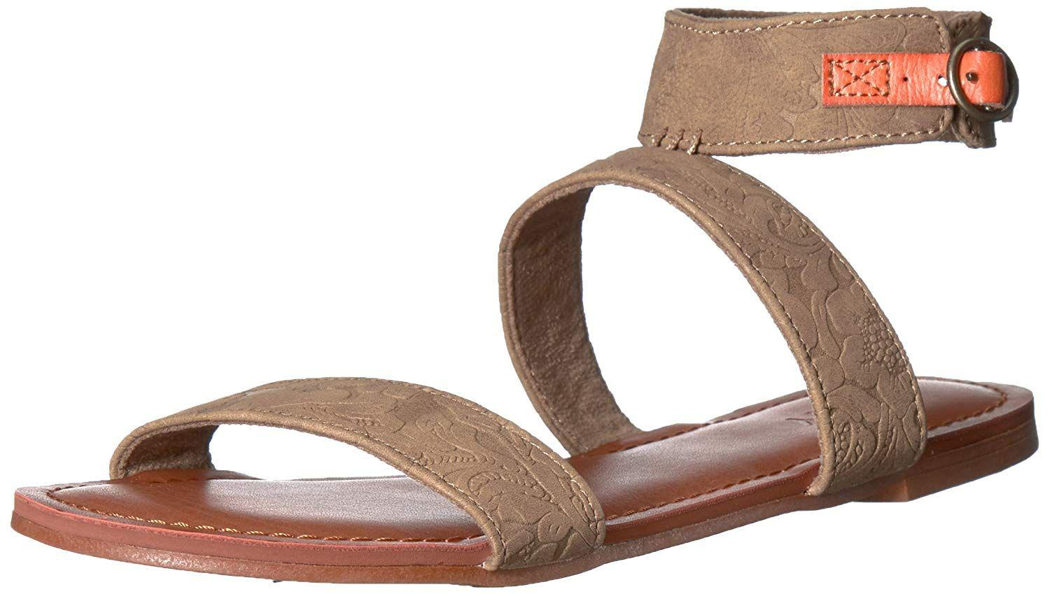 dbcc2be7d Lyst - Roxy Women s Marron Ankle Strap Sandals Flat in White