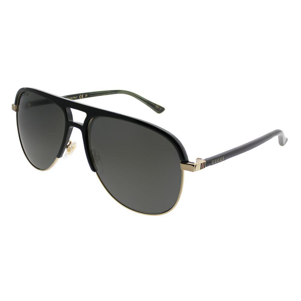 Lyst - Gucci Gg0292s 002 Black Aviator Sunglasses in Black d29170414f