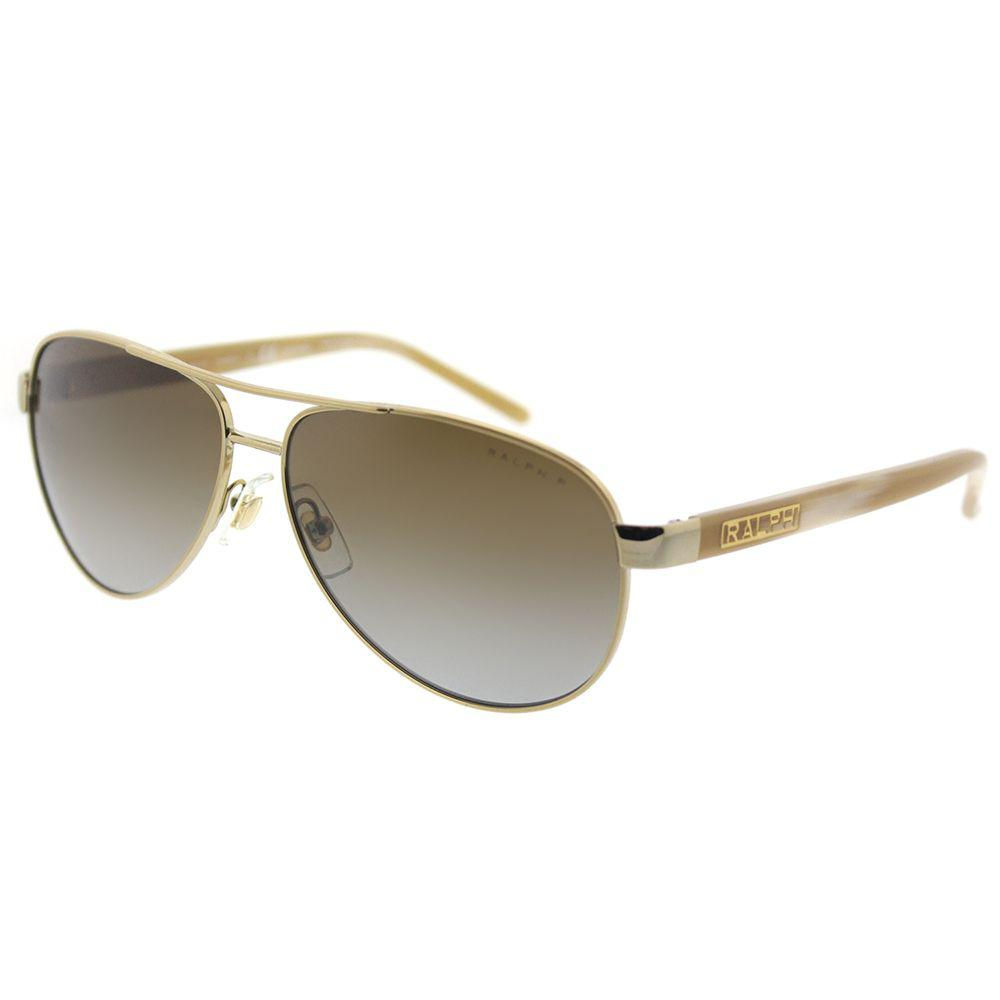 47b4960f8 Ralph By Ralph Lauren. Women's Metallic Ra 4004 101/t5 Gold/cream Aviator  Sunglasses