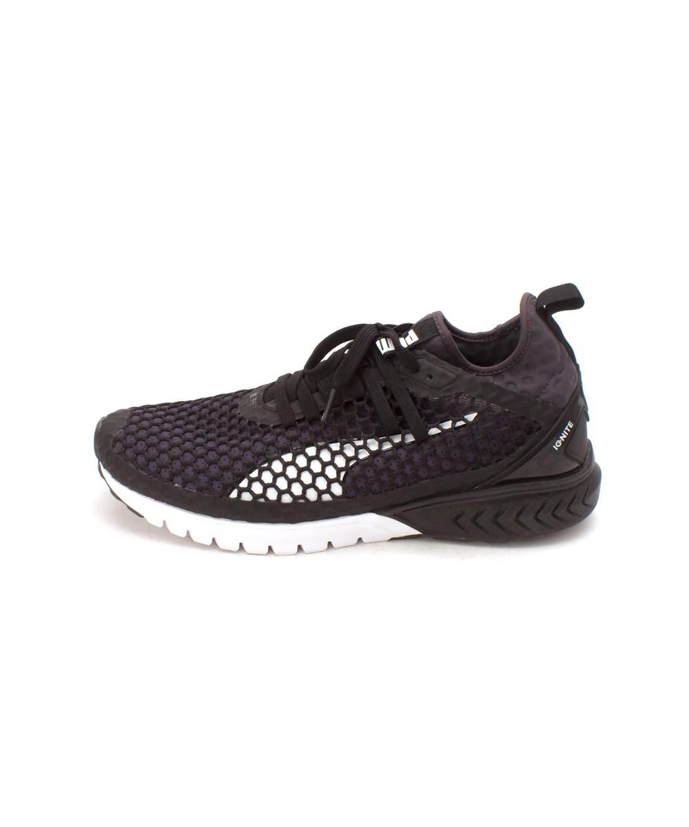 PUMA Womens ignite dual netfit Low Top Lace Up Running Sneaker Black Size 9.5