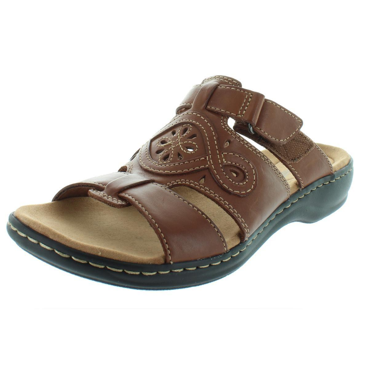 3af59a4c63b8 Lyst - Clarks Womens Leisa Higley Leather Open Toe Slide Sandals in ...