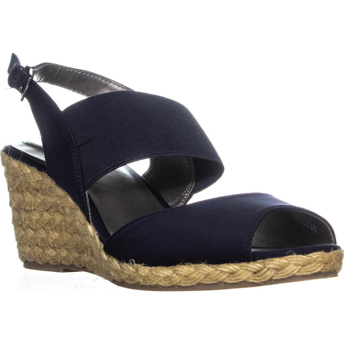 6e8bfd6d536 Lyst - Bandolino Himeka Espadrilles Wedge Sandals, Navy/navy in Blue