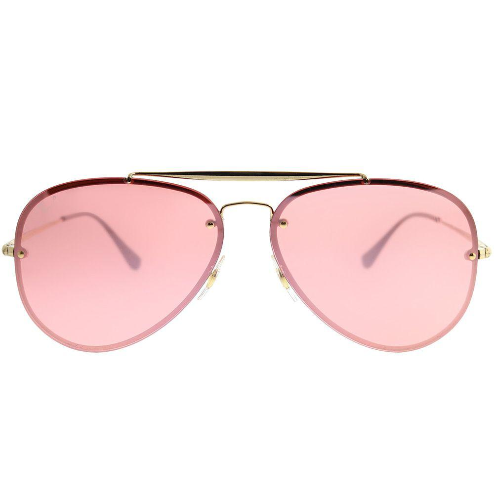 a2cdf456c82 Ray-Ban - Multicolor Blaze Aviator Rb 3584n 9052e4 61mm Gold Aviator  Sunglasses - Lyst. View fullscreen