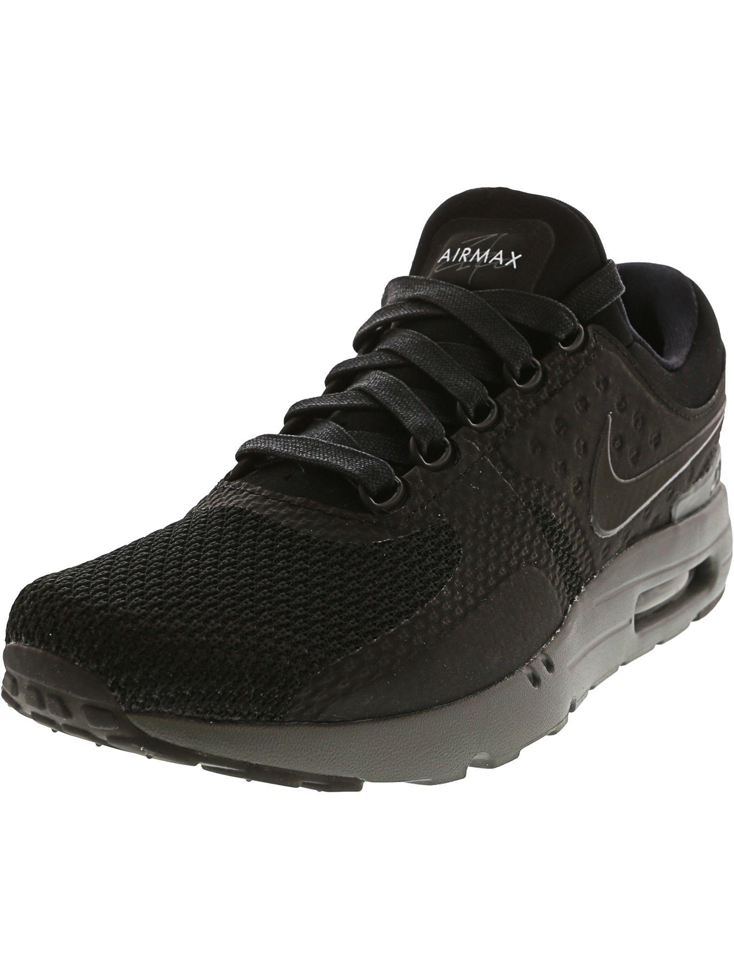 buy popular 9bfc4 2d61f Nike. Black Men s Air Max Zero Ankle-high Fabric Running Shoe