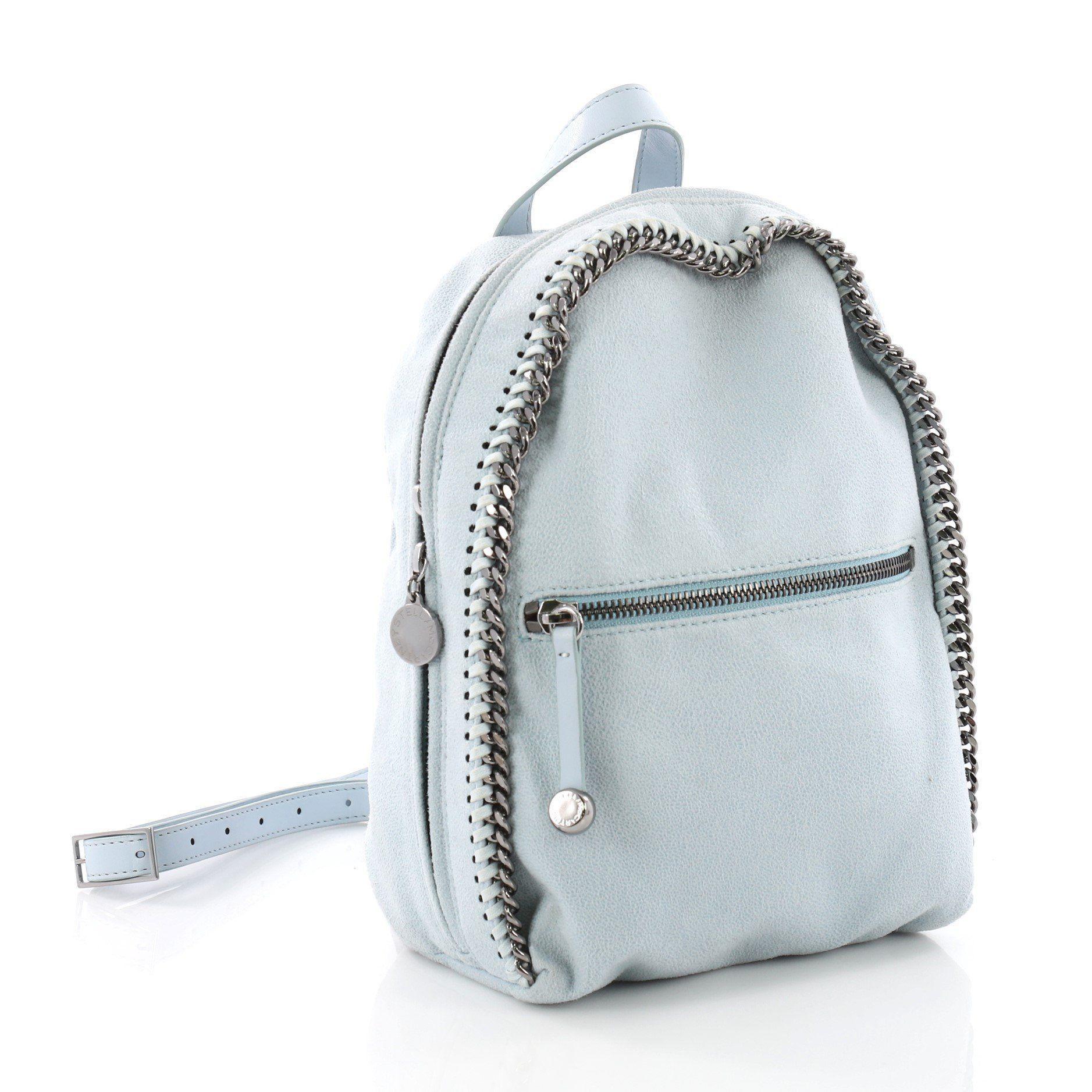 c20c603b9d14 ... Falabella Front Zip Backpack Shaggy Deer Mini - Lyst. View fullscreen