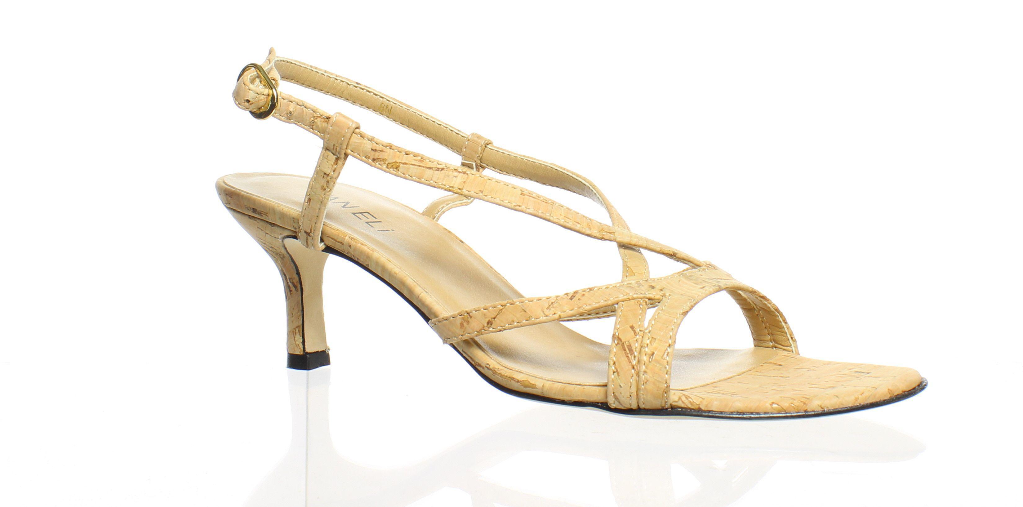 e5ae62e21c Vaneli. Womens Merila 812891-250 Natural Cork Ankle Strap Heels ...