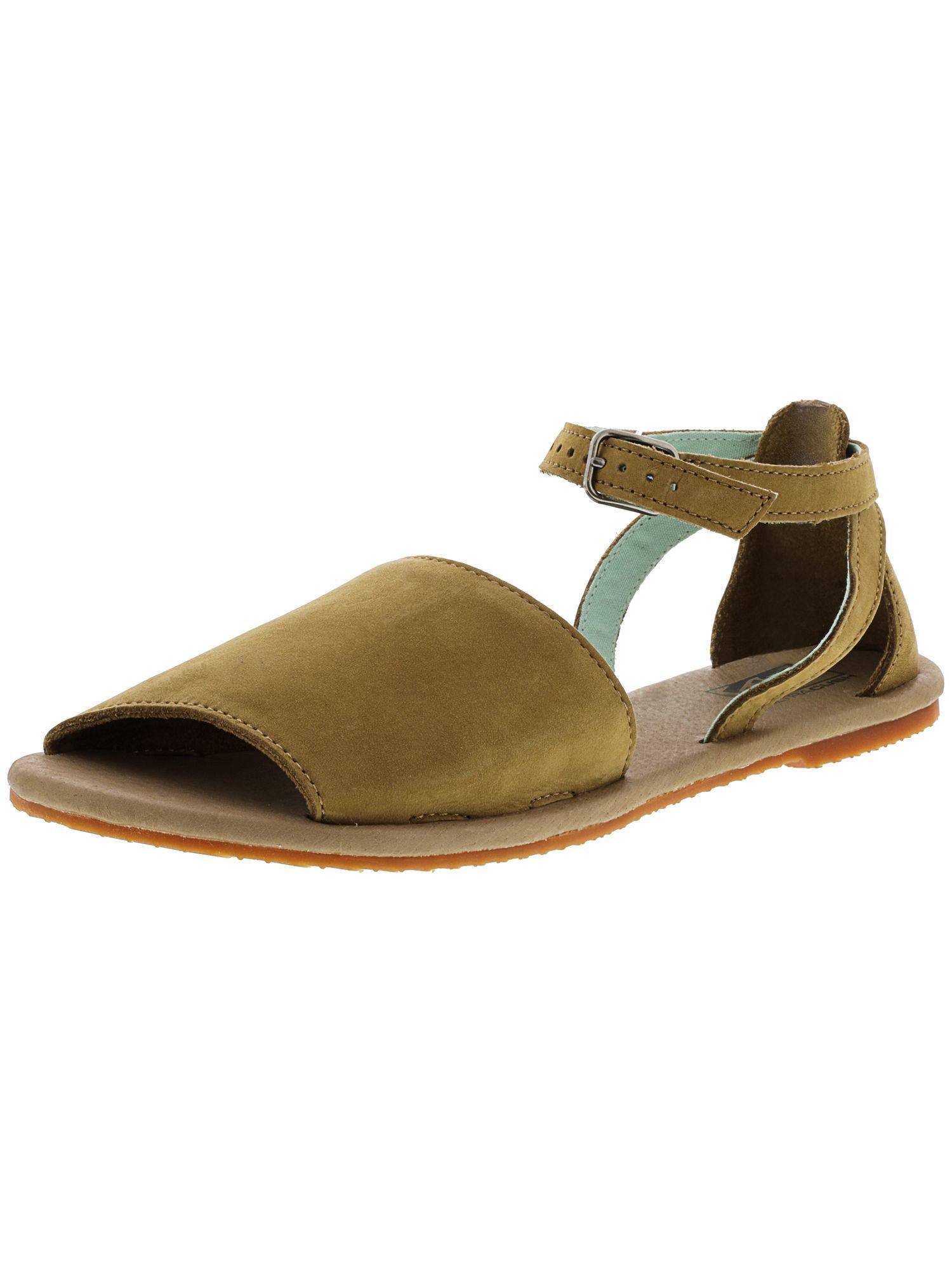 Lyst - Vans Women s Ankle-hi Tan Lizard Sandal - 10m in Brown f750f5097