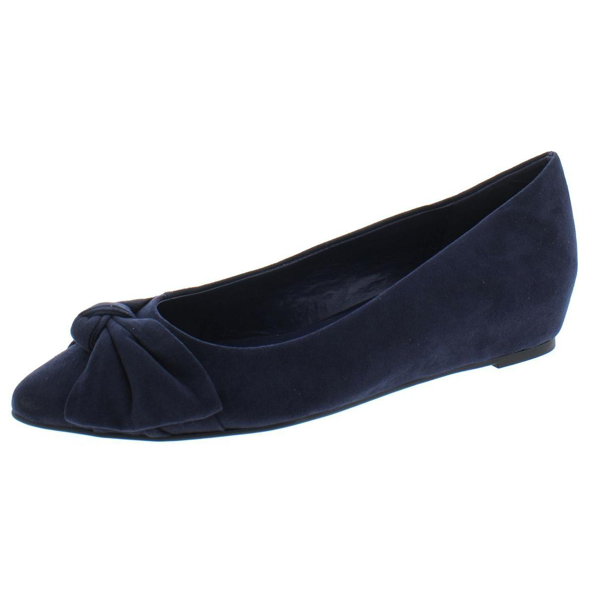 805d18e72f7 Lyst - Bandolino Womens Ressie Faux Suede Bow Wedge Heels in Blue