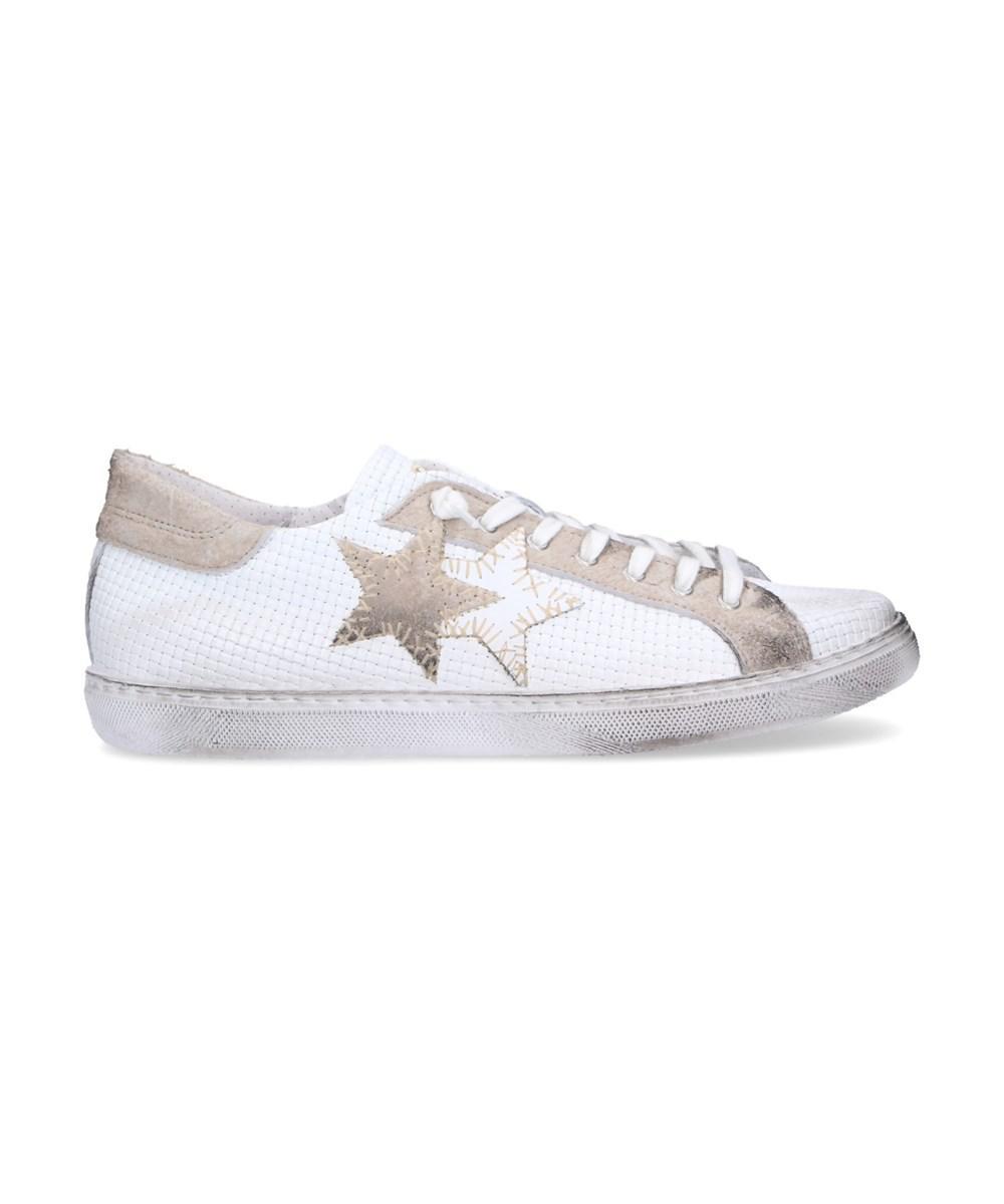 Herren 2Su1830 Weiss Leder Sneakers 2Star Verkauf Erkunden Rabatt Bilder E9aSYrlY0X