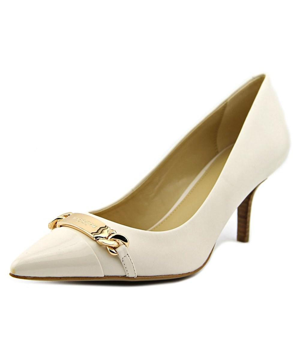 72f8a0b9626 Lyst - Coach Bowery Women Pointed Toe Leather White Heels in White
