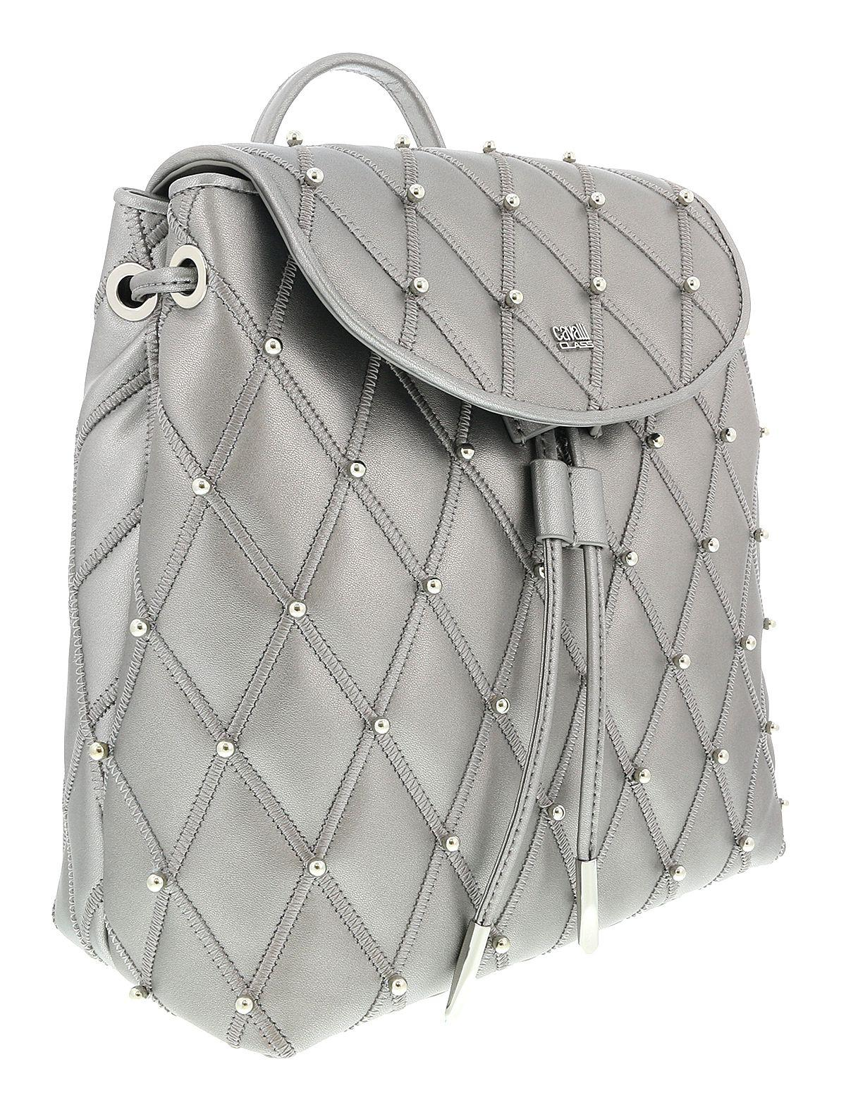 bb65d7570a9a Lyst - Roberto Cavalli Hxlpf5 001 Silver Backpack in Metallic