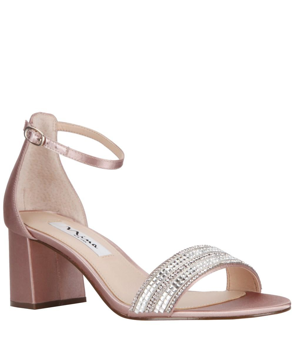 Nina Avalon Rhinestone Embellishment Ankle Strap Dress Sandals 3xJIZY4