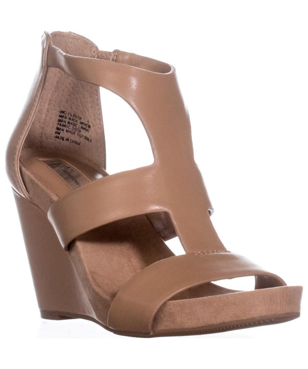 b511497fddca INC International Concepts. Women s Brown I35 Lilbeth T-strap Wedge Sandals  ...