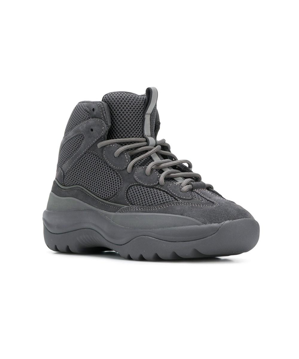 free shipping prices discount Manchester Yeezy Men's Grey Leather Ankle ... discount purchase LaORY0XS46