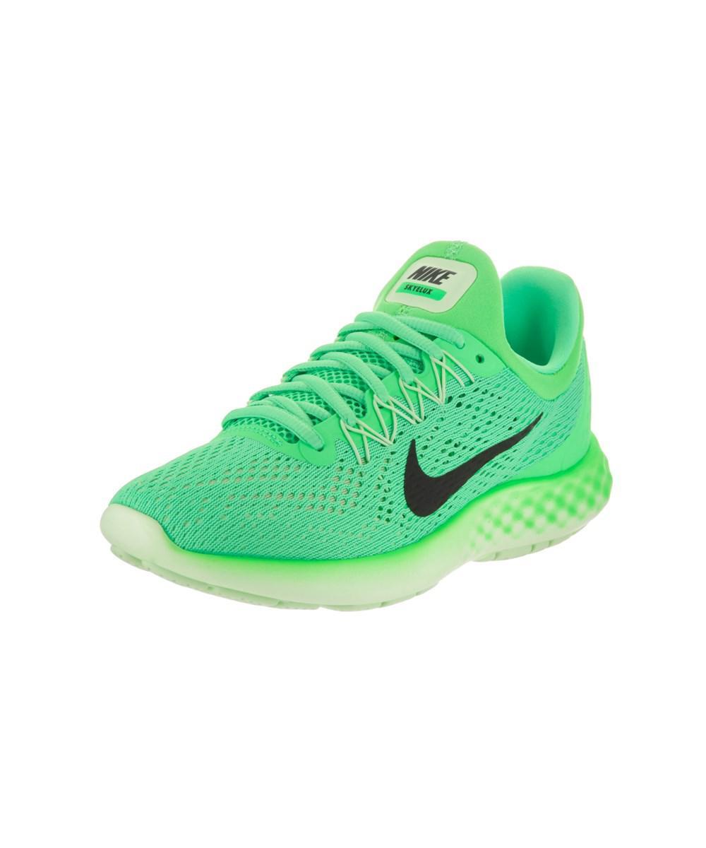 073604905b1 Lyst - Nike Women s Lunar Skyelux Running Shoe in Green - Save 7%