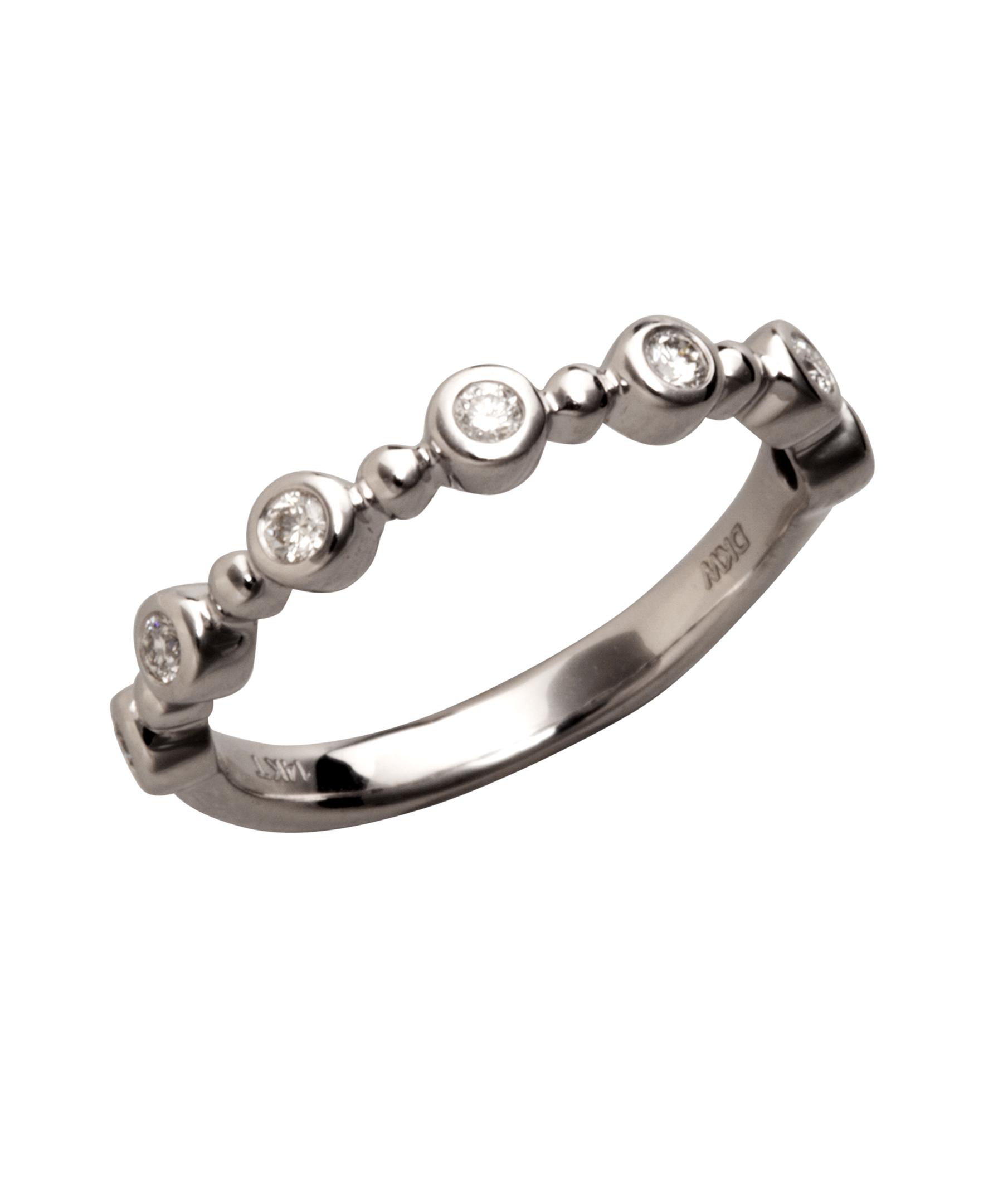 9f8f9210155e Lyst - Colette Nicolai Diamond And White Gold Bezel Ring in Metallic