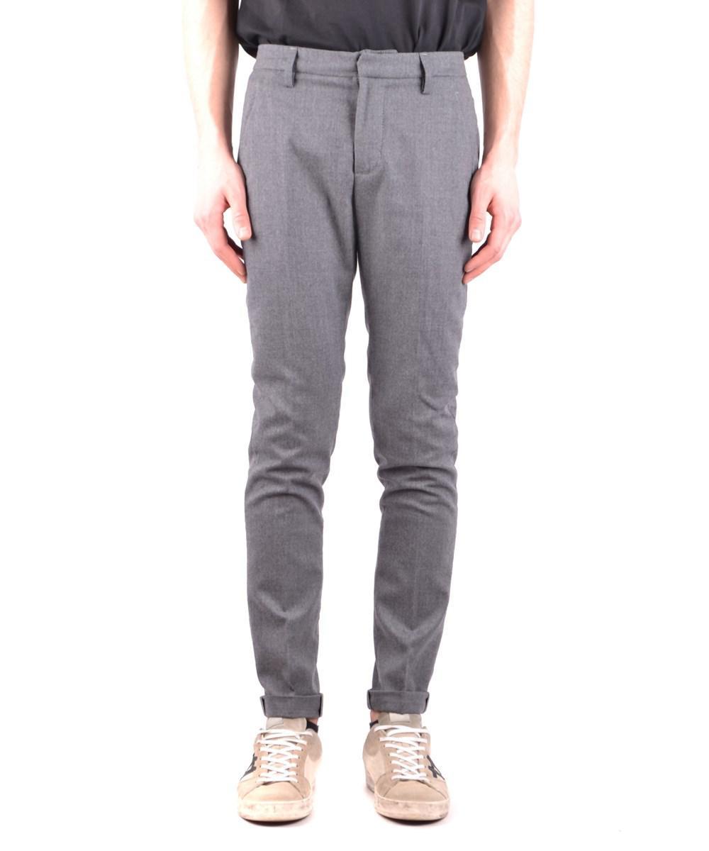 Pantalons De Laine Anthracite À Motifs Dondup 2O0orbHmM9