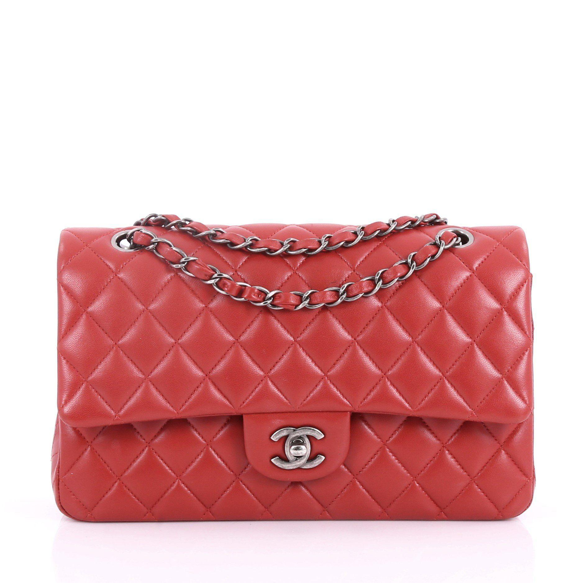 f18fefc20860 Lyst - Chanel Pre Owned Classic Double Flap Bag Quilted Lambskin ...