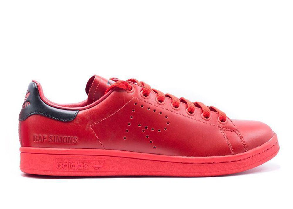 7024cd06a6d Adidas - Raf Simons Unisex Stan Smith Red Sneaker for Men - Lyst. View  fullscreen
