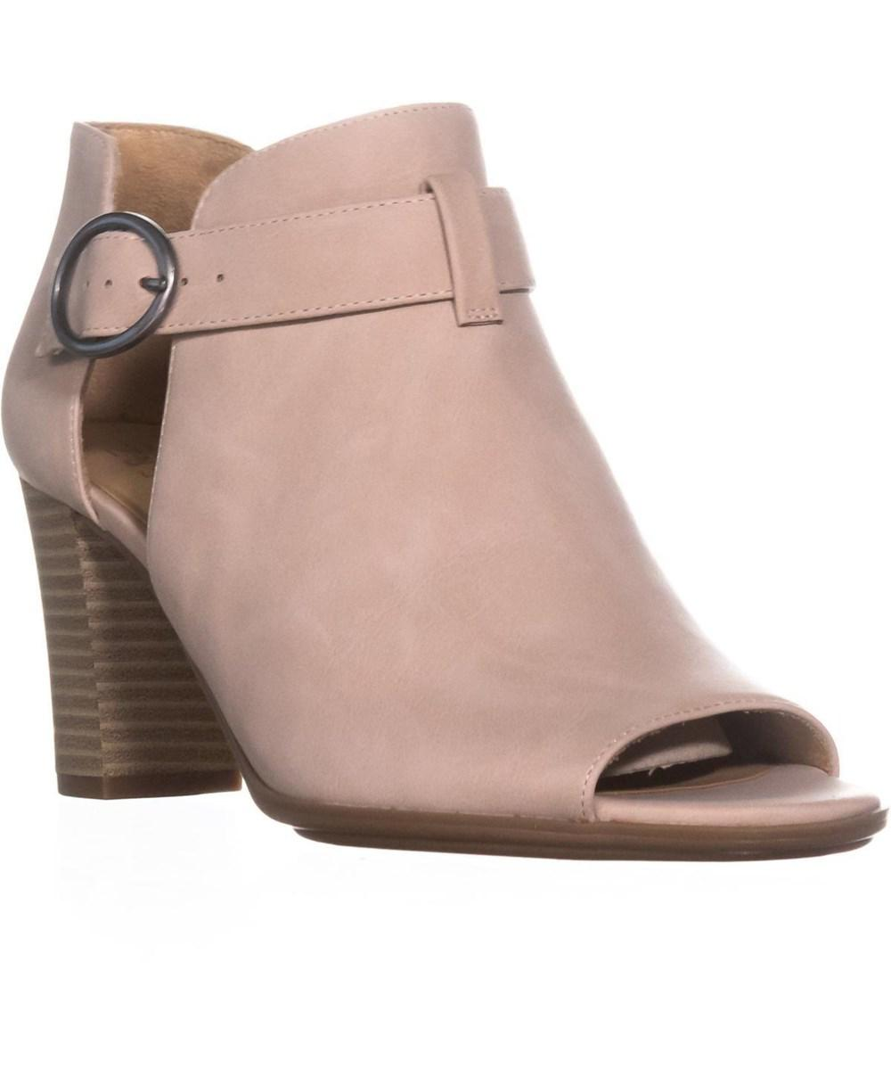 d18645af8634 Lyst - Naturalizer Lauren Buckle Peep Toe Sandals