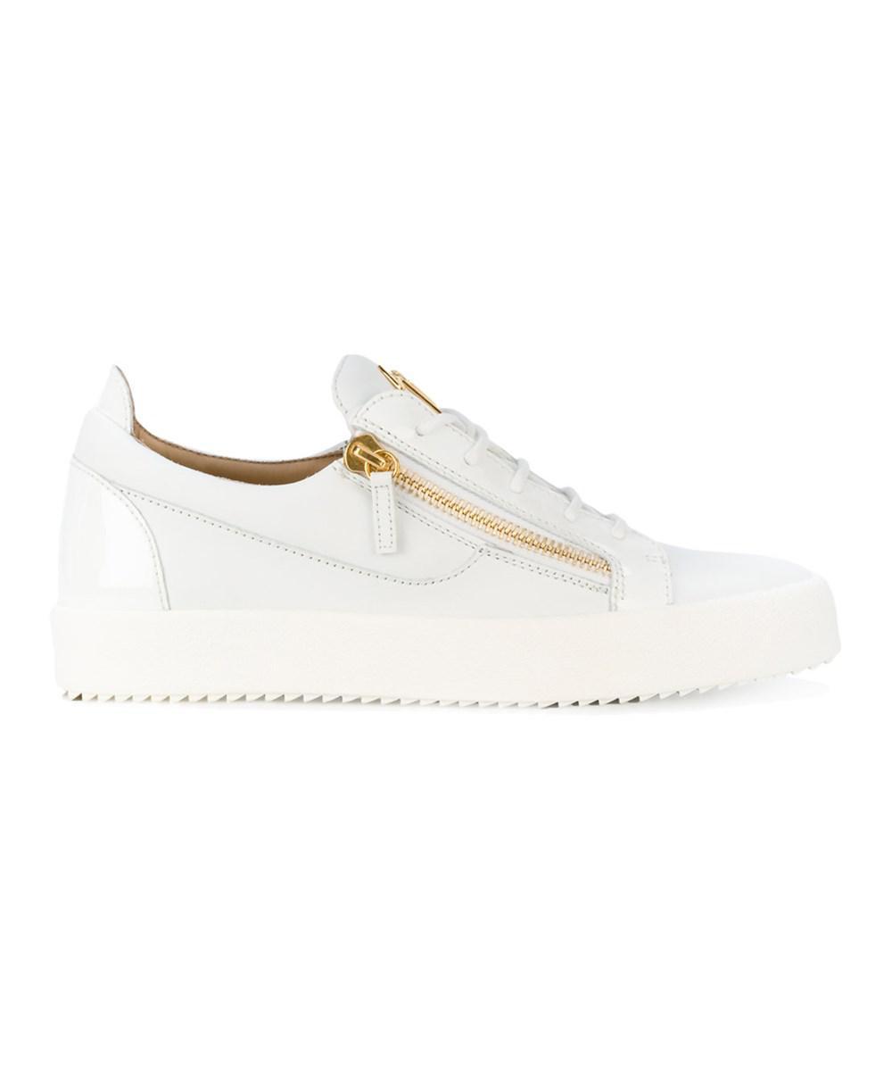 9922f2873c80a Lyst - Giuseppe Zanotti Design Men's White Leather Sneakers in White ...