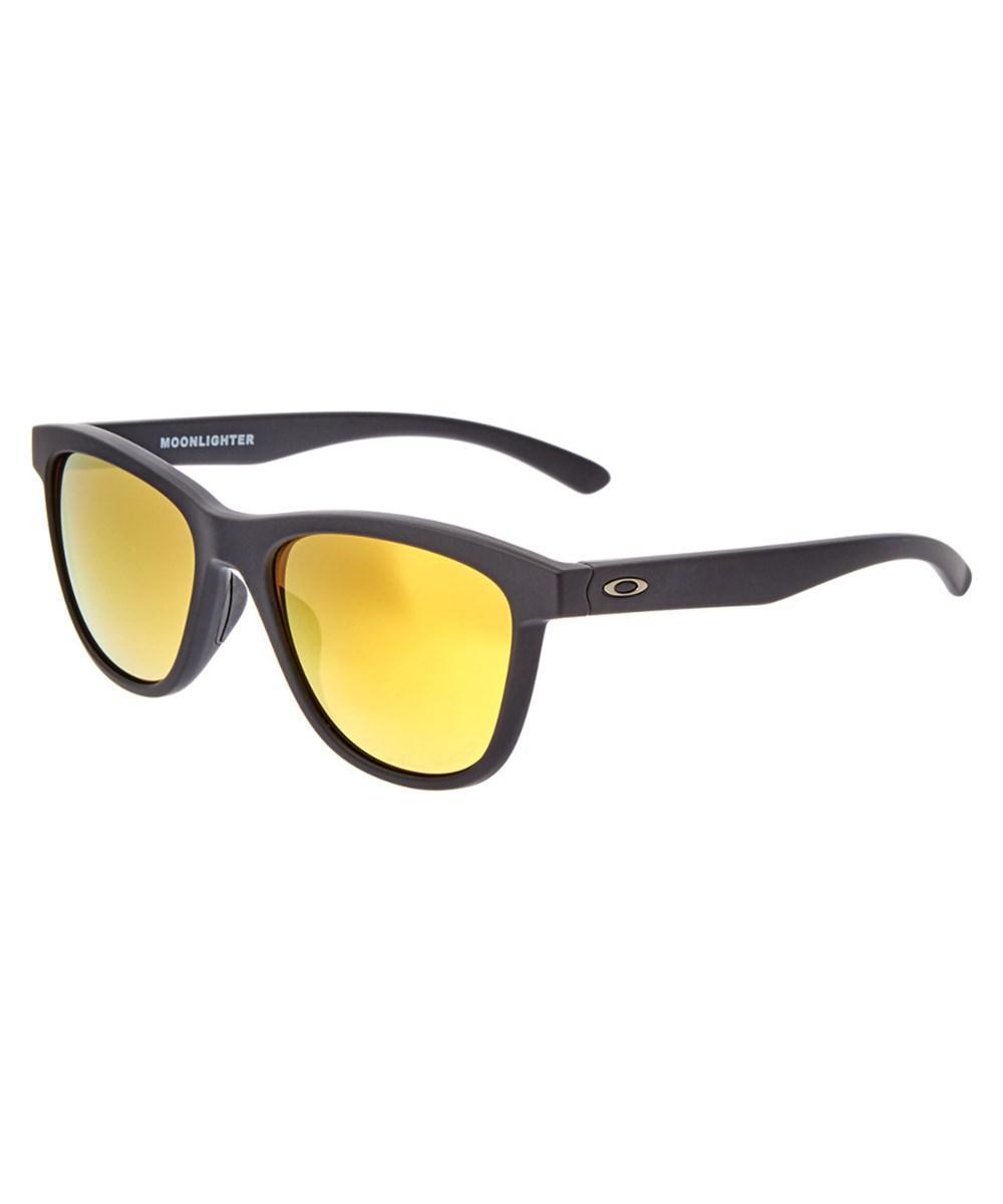 cb40c38d40 Lyst - Oakley Women s Moonlighter Polarized Sunglasses in Black