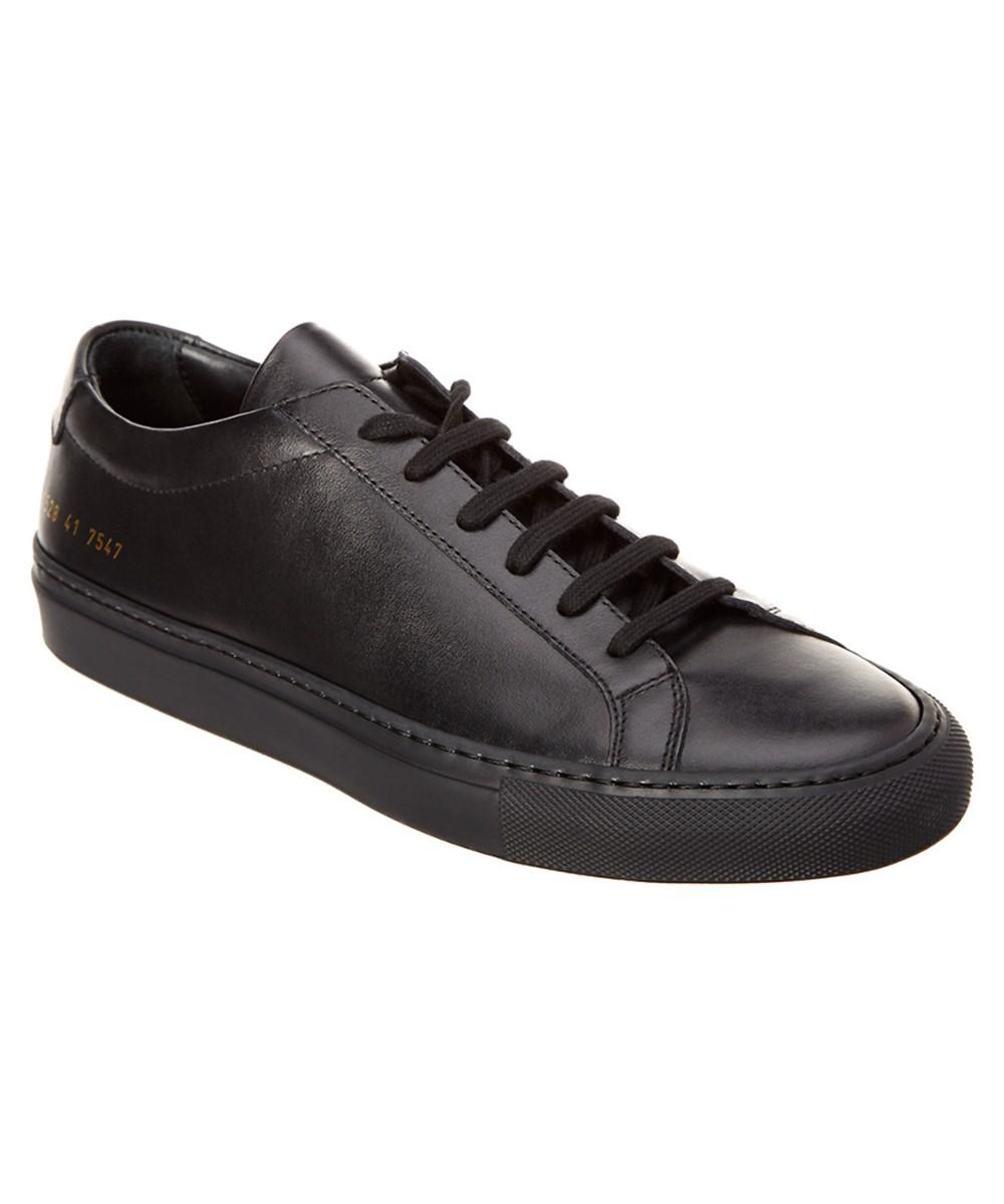 3e1be245f8c1 Lyst - Common Projects Men s Achilles Leather Sneaker in Black for ...