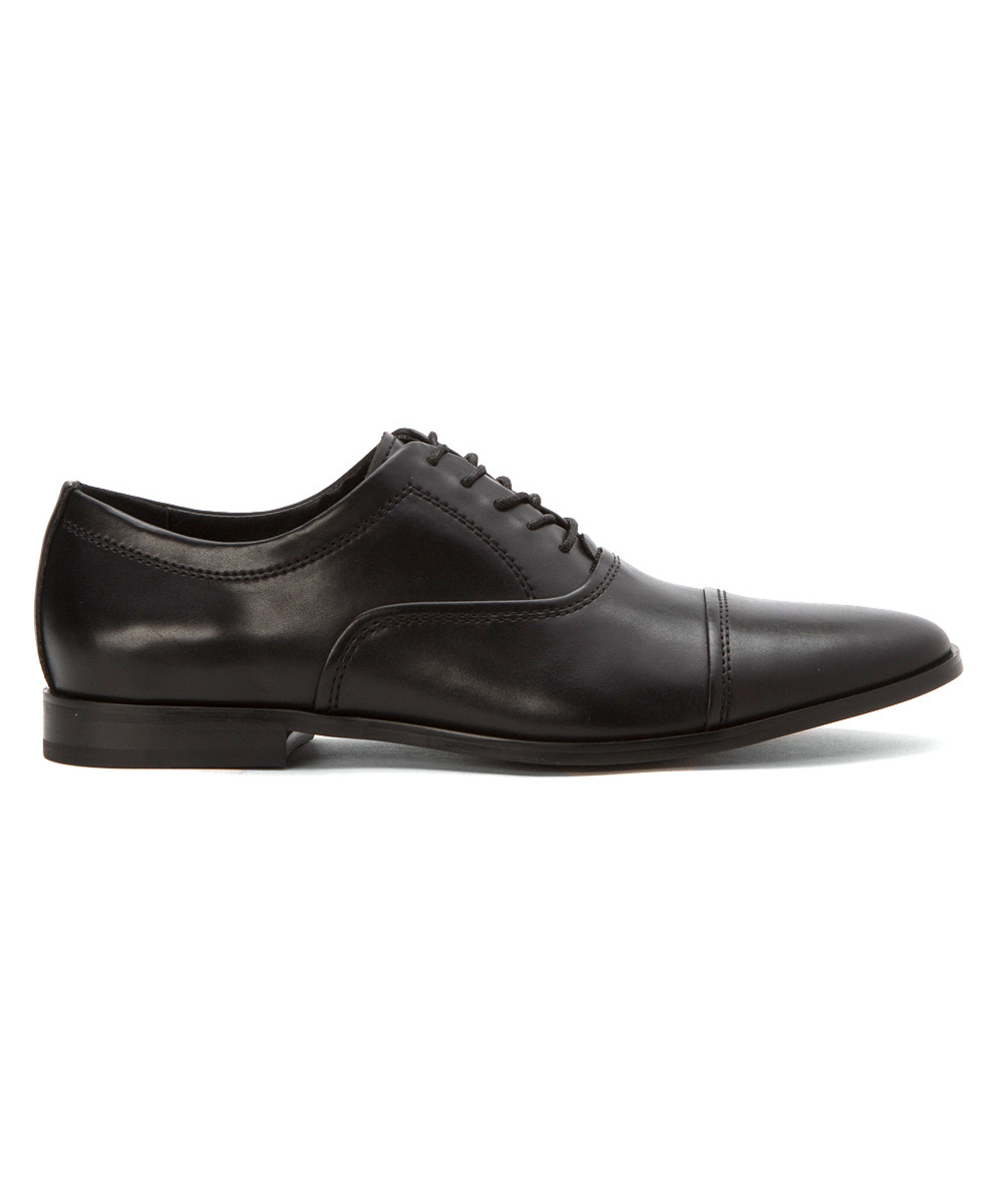 calvin klein men 39 s nino leather oxfords shoes in black for. Black Bedroom Furniture Sets. Home Design Ideas