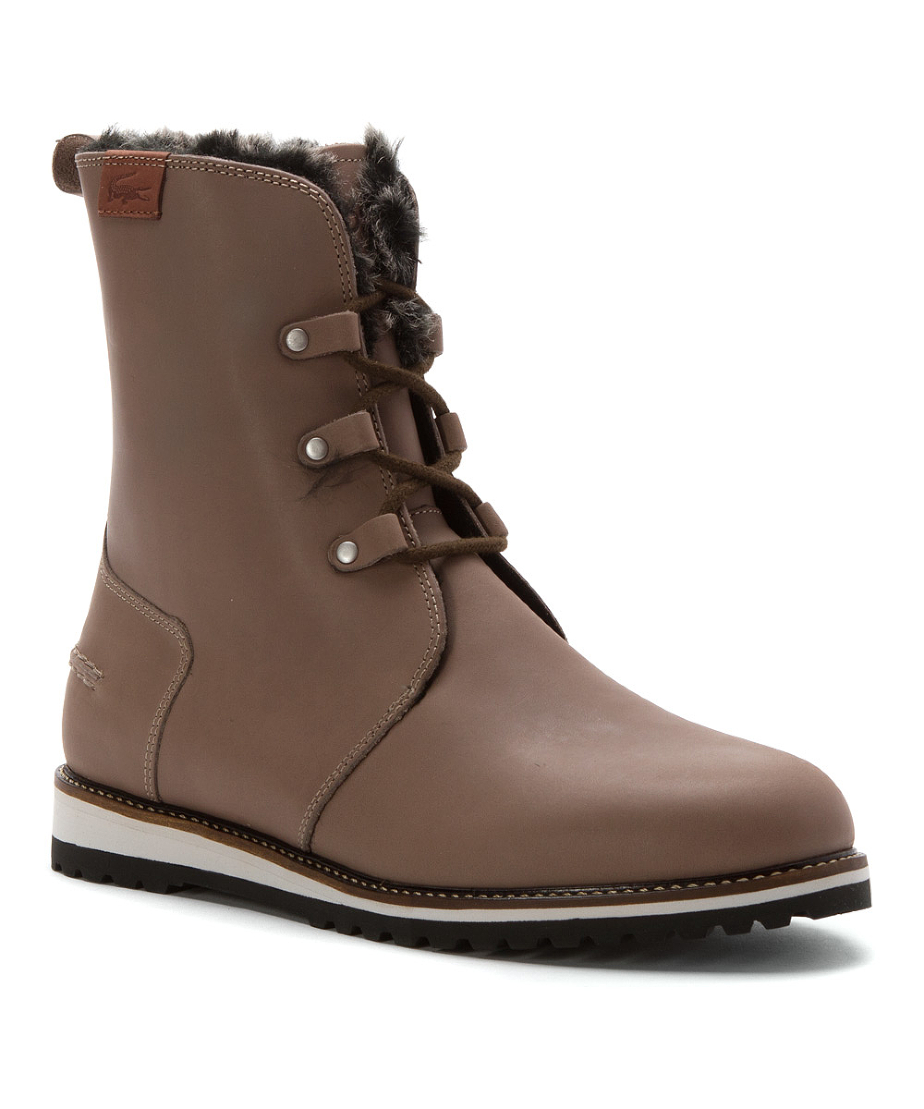 lacoste womens baylen 5 boots in brown lyst
