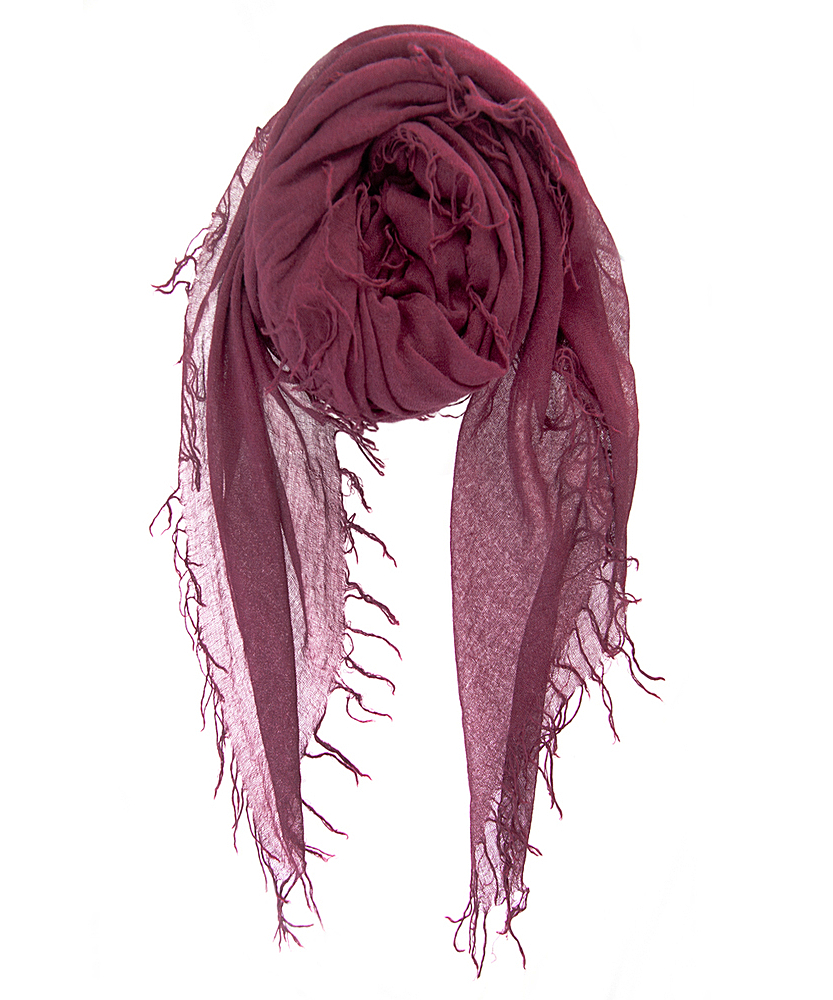 Chan luu Fig Cashmere And Silk Scarf in Red