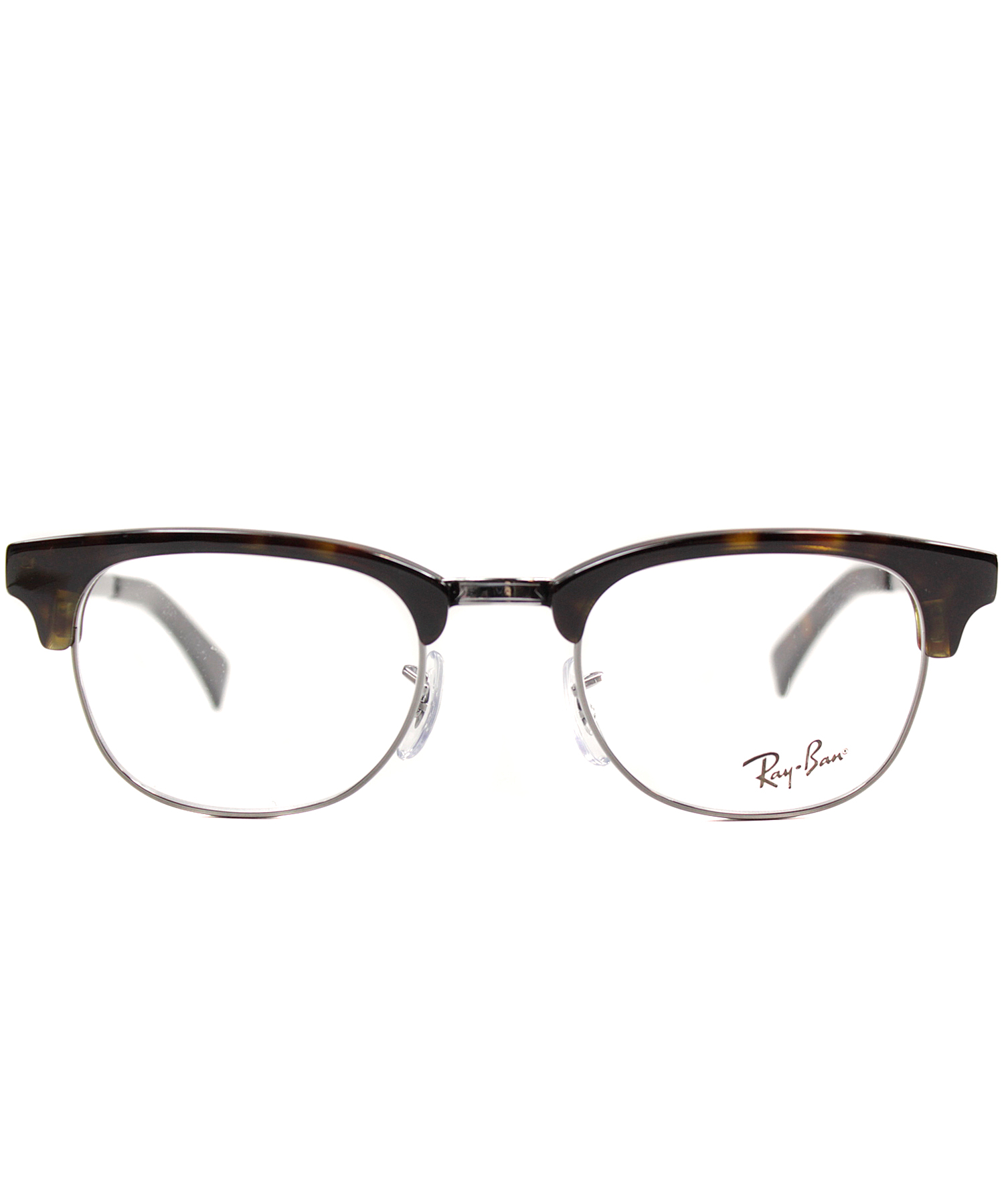 Ray Ban Clubmaster Glasses Frames : Ray-ban Clubmaster Plastic Eyeglasses in Metallic Lyst