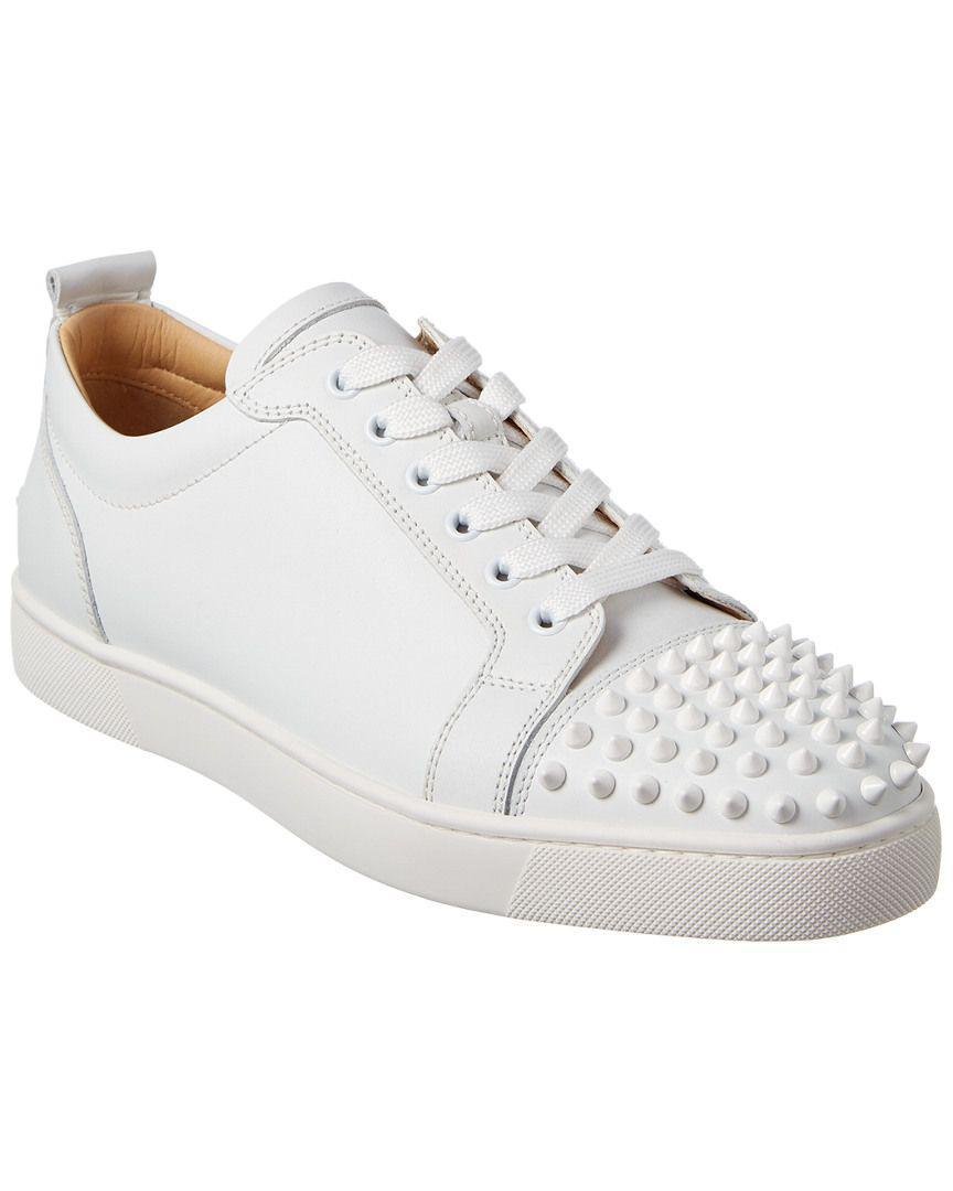 4f9eeb38999 Lyst - Christian Louboutin Louis Junior Spikes Leather Sneaker for Men