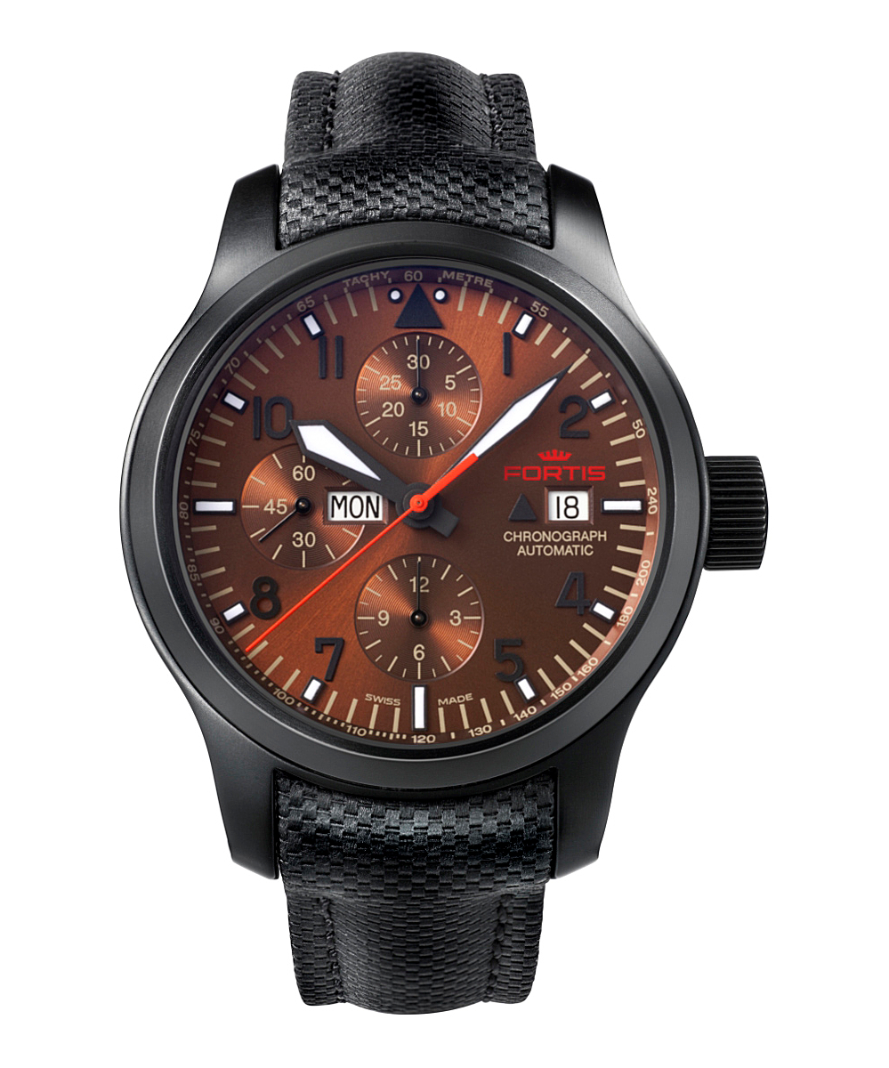 Fortis :aeromaster Dusk Chronograph Watch in Black for Men ...