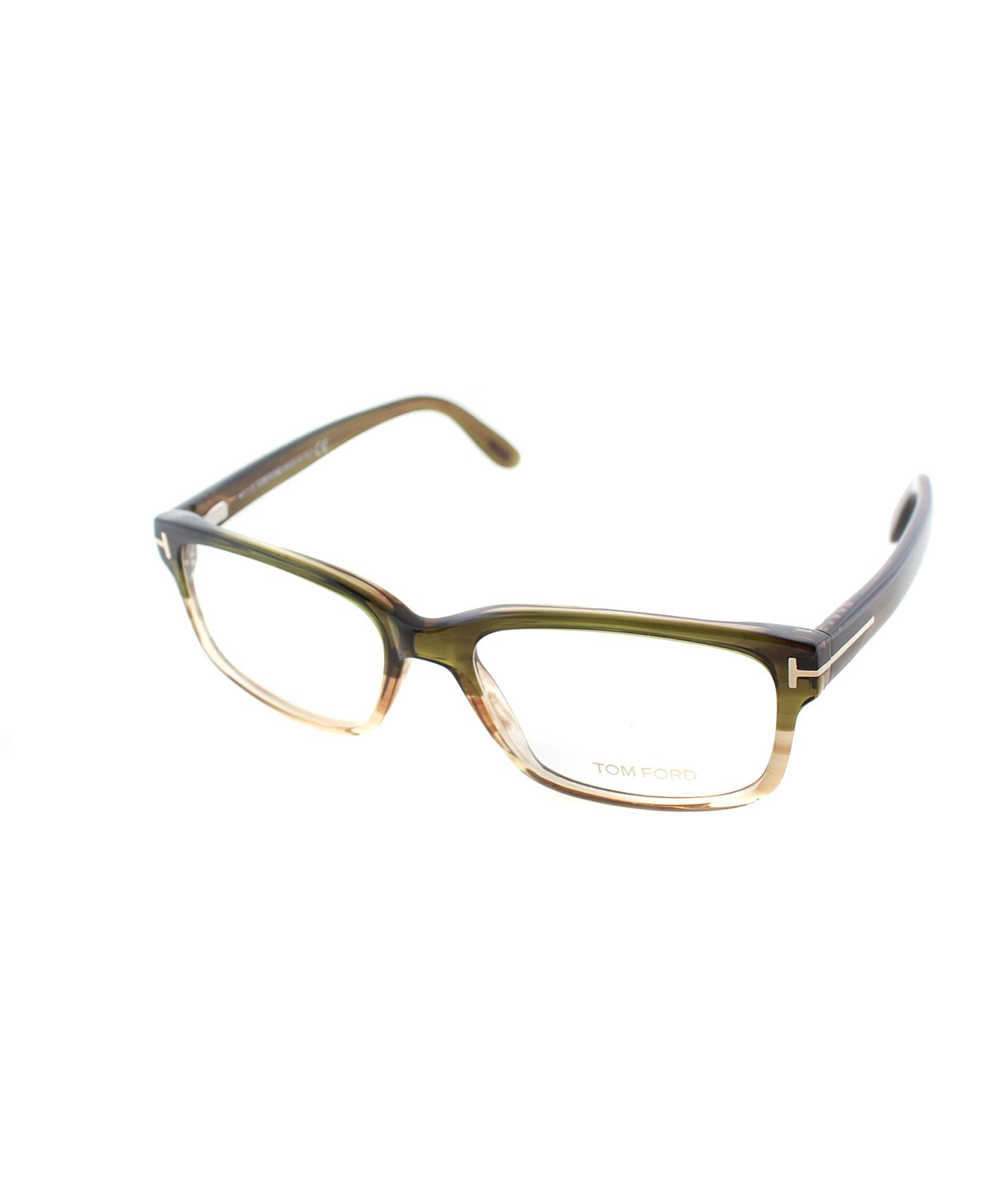 Green Eyeglass Frames Plastic : Tom ford Rectangle Plastic Eyeglasses in Green Lyst
