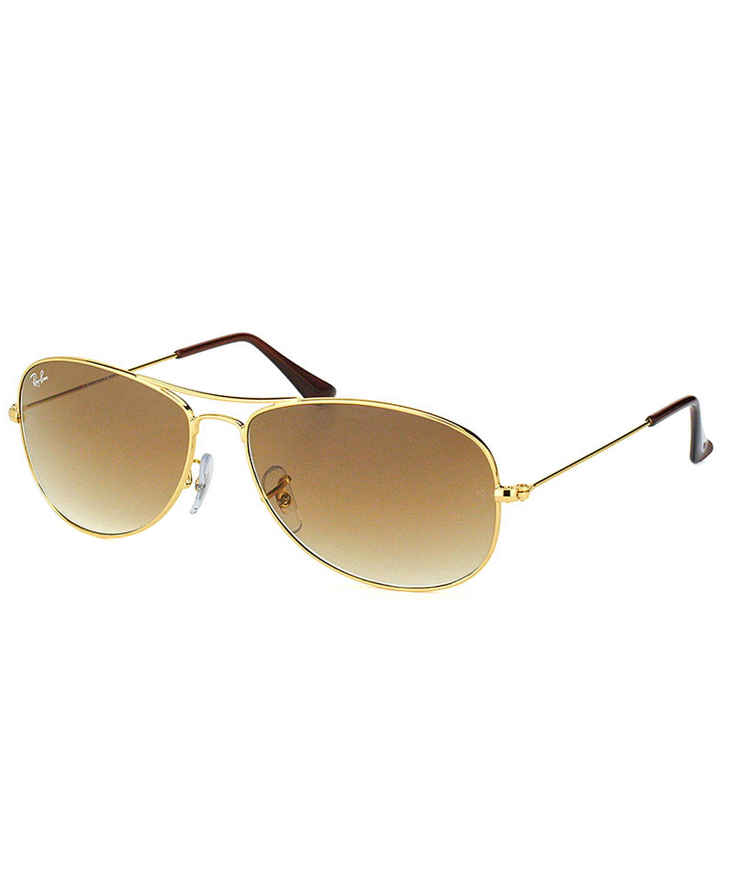 ray ban cockpit aviator metal sunglasses in metallic gold. Black Bedroom Furniture Sets. Home Design Ideas