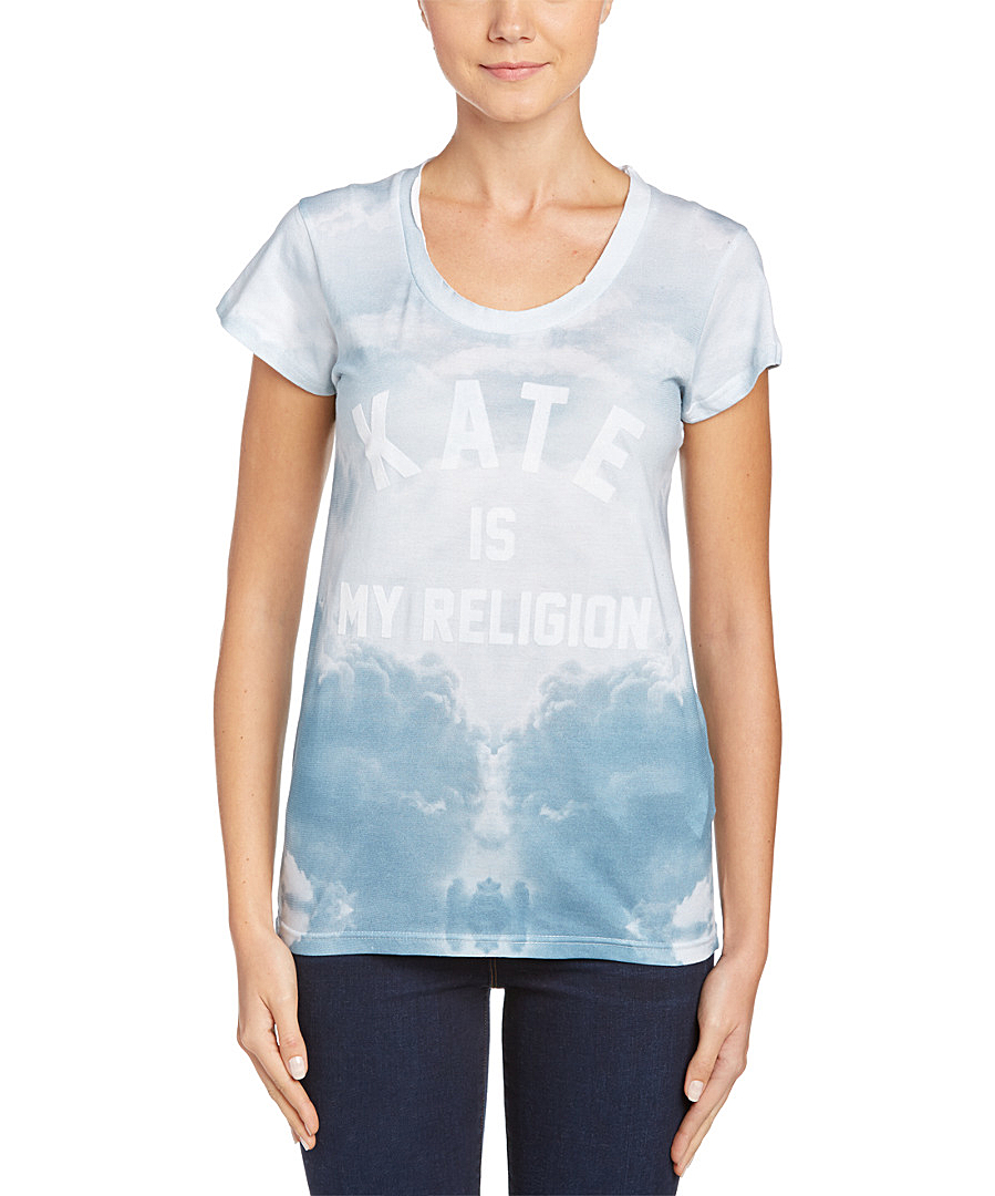 eleven paris fatwom graphic t shirt in blue lyst. Black Bedroom Furniture Sets. Home Design Ideas