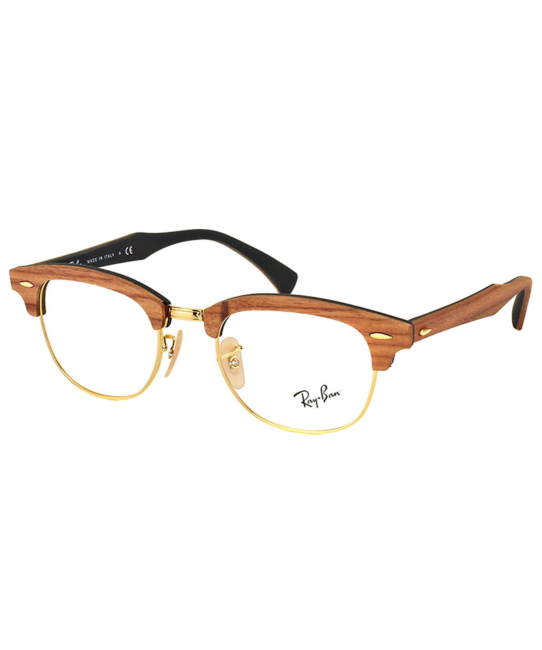 Ray Ban Clubmaster Glasses Frames : Ray-ban Clubmaster Wood Eyeglasses in Brown Lyst