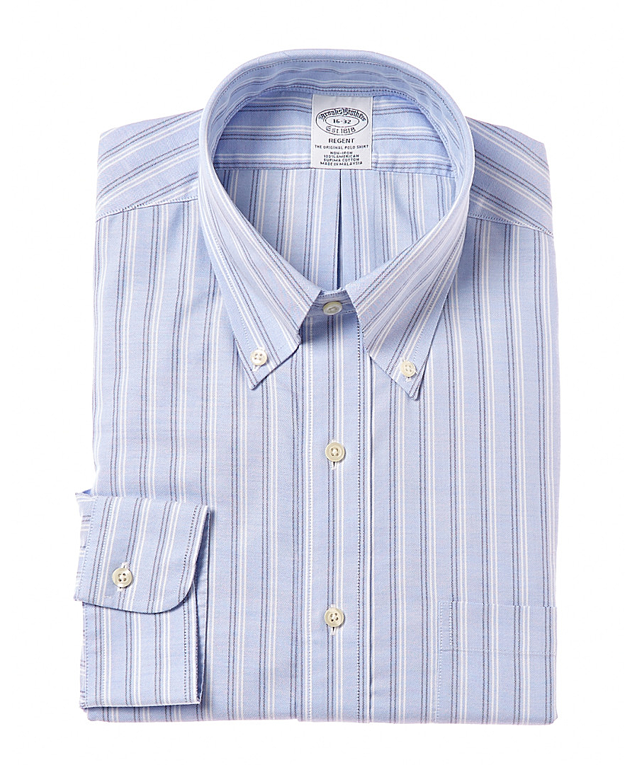 Brooks Brothers Slim Fit Dress Shirt In Blue For Men Lyst