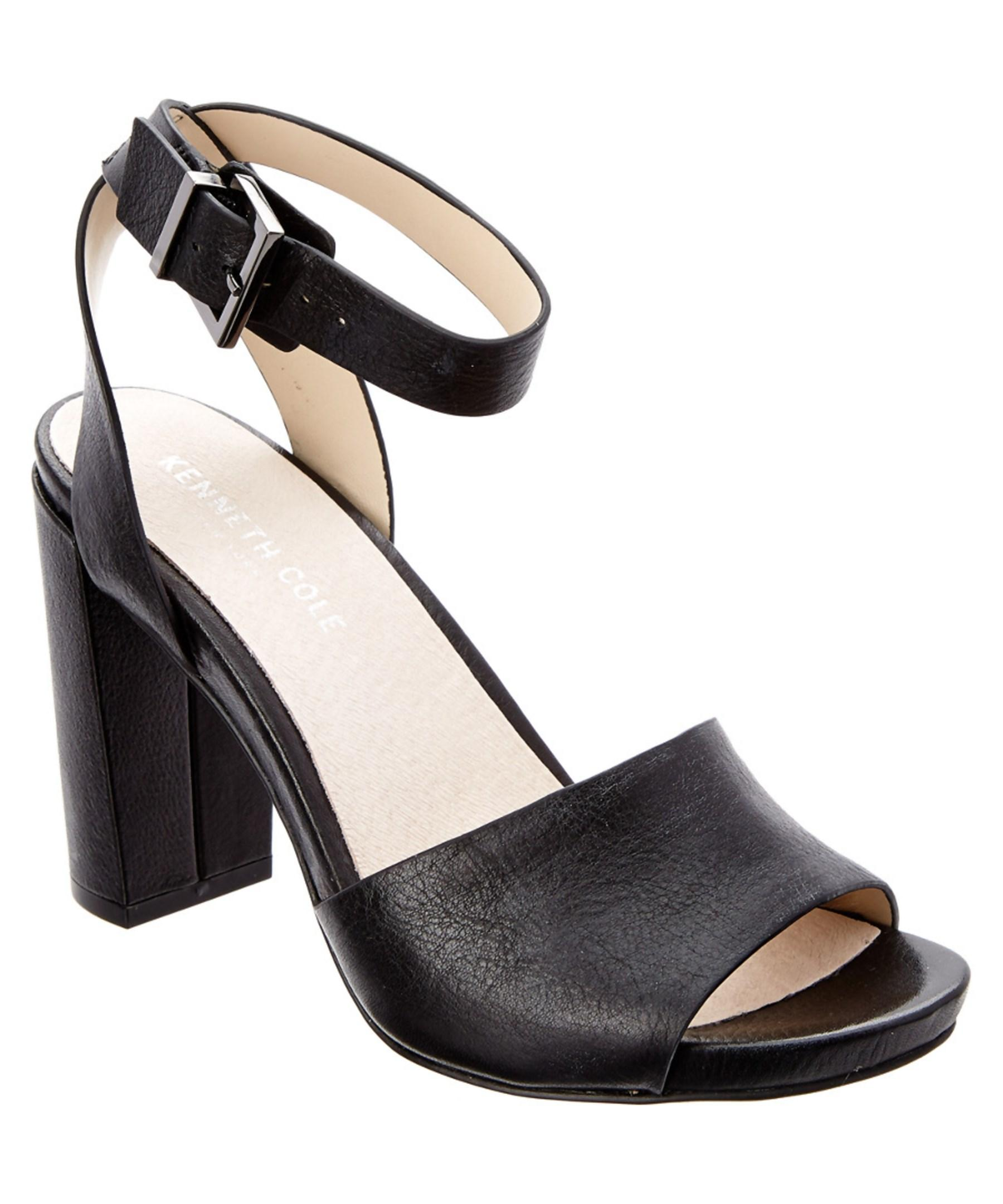Kenneth Cole. Women's Black New York Toren Leather Sandal