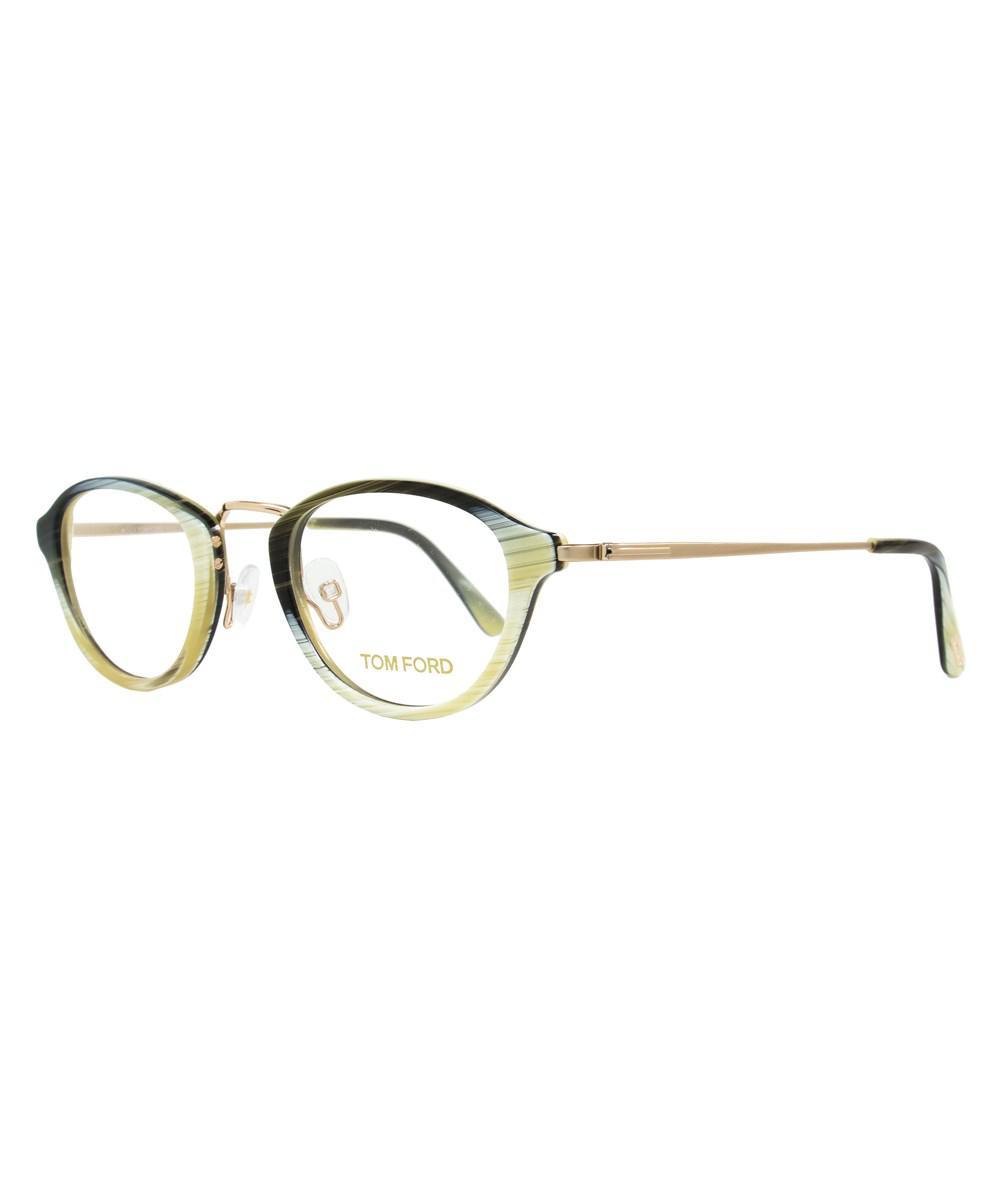 7484f87e38b Lyst - Tom Ford Oval Eyeglasses Tf5321 061 Size  47mm Horn rose Gold ...