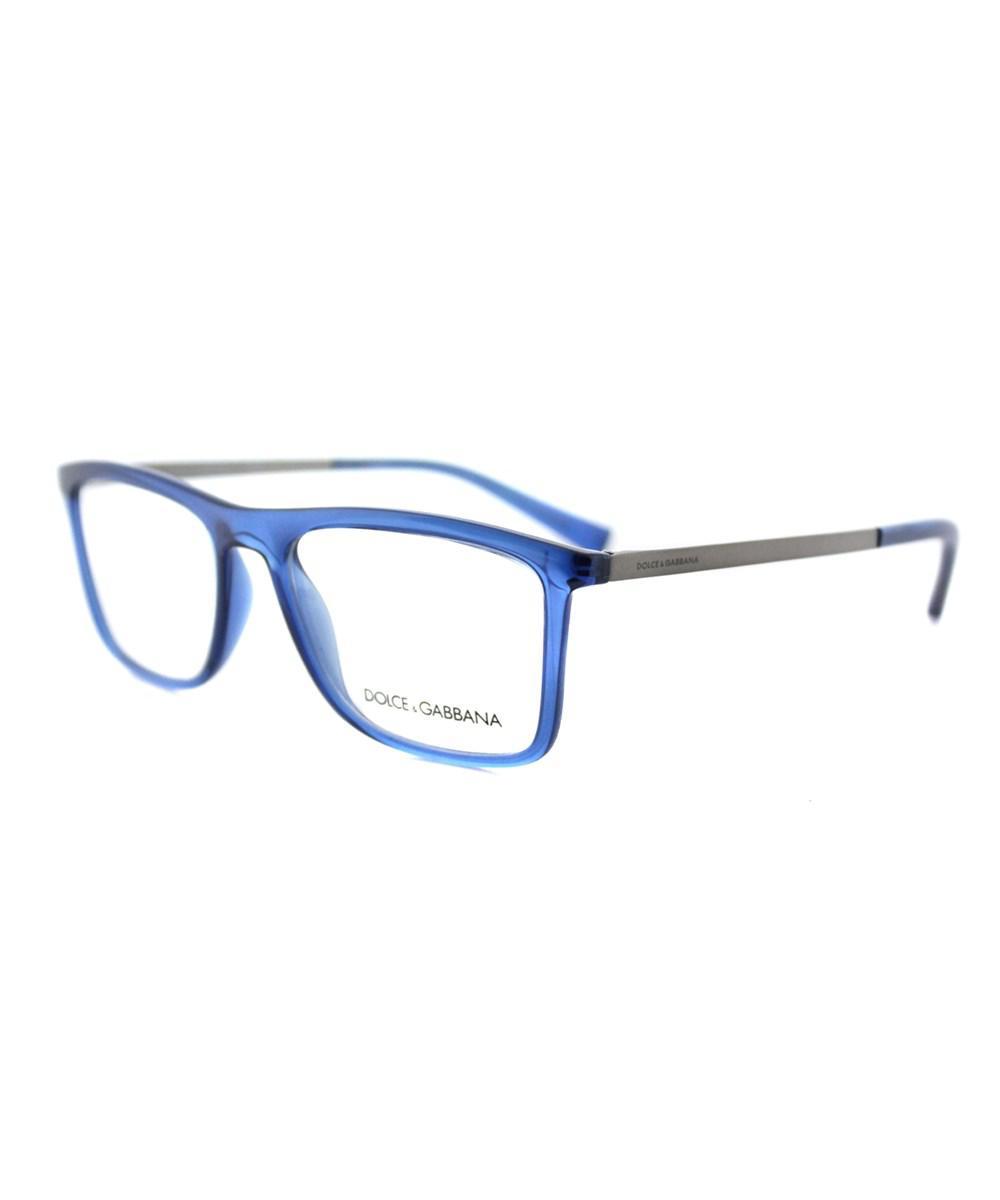 cb7efc3f680 Lyst - Dolce   Gabbana Rectangle Plastic Eyeglasses in Blue
