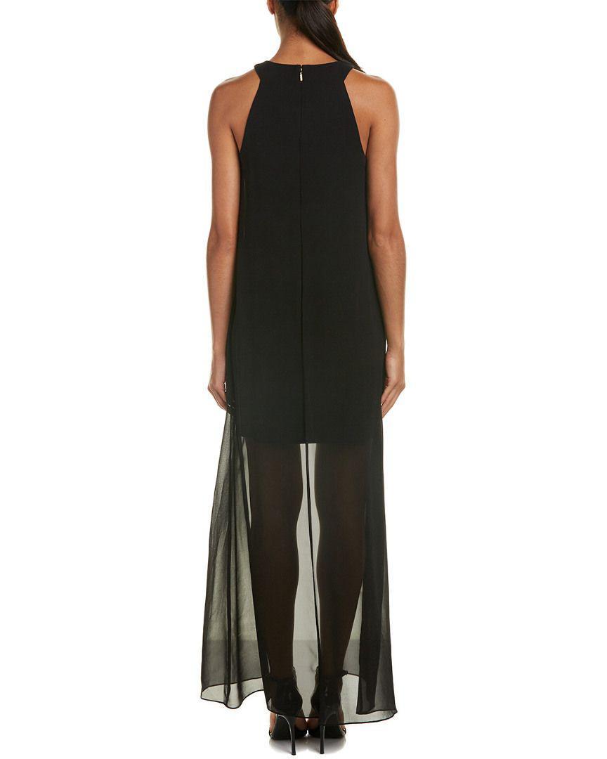 b6099868838 Lyst - Trina Turk Beacon Silk-trim Sheath Dress in Black
