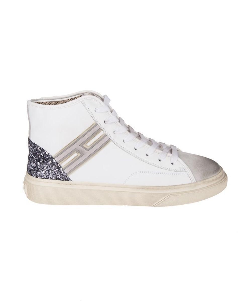 Hogan Paillettes Chaussures De Sport Salut-top - Blanc ykh7ROHA5