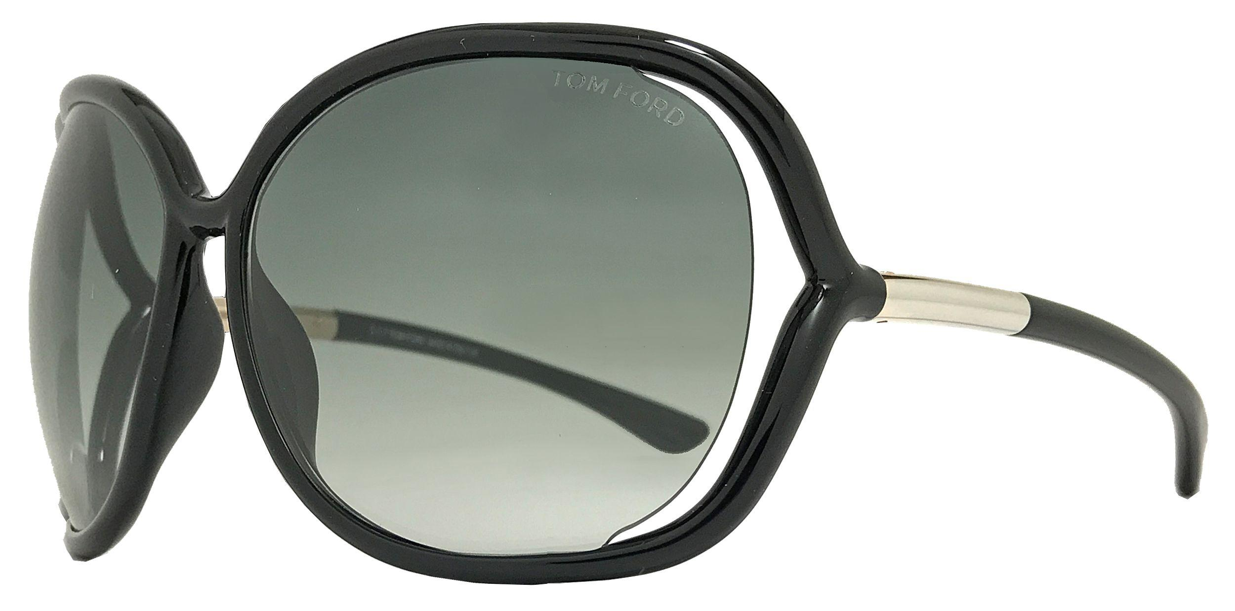 983a62af8b46 Lyst - Tom Ford Butterfly Sunglasses Tf76 Raquel 199 Black gold Ft0076