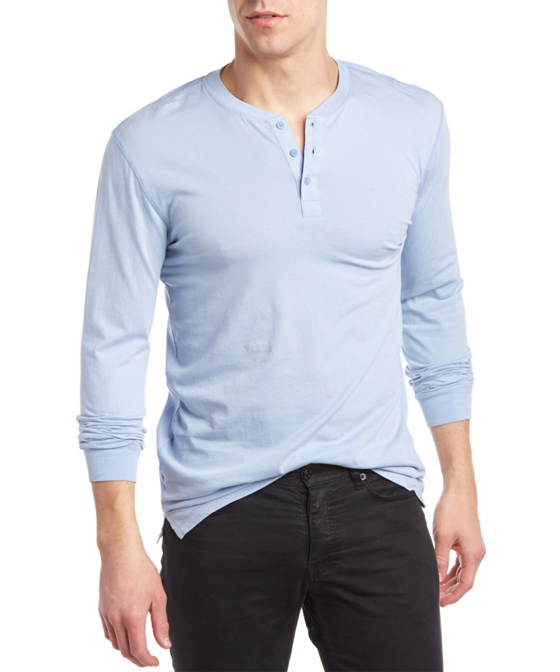 Slate And Stone Clothing : Slate stone henley in blue for men lyst