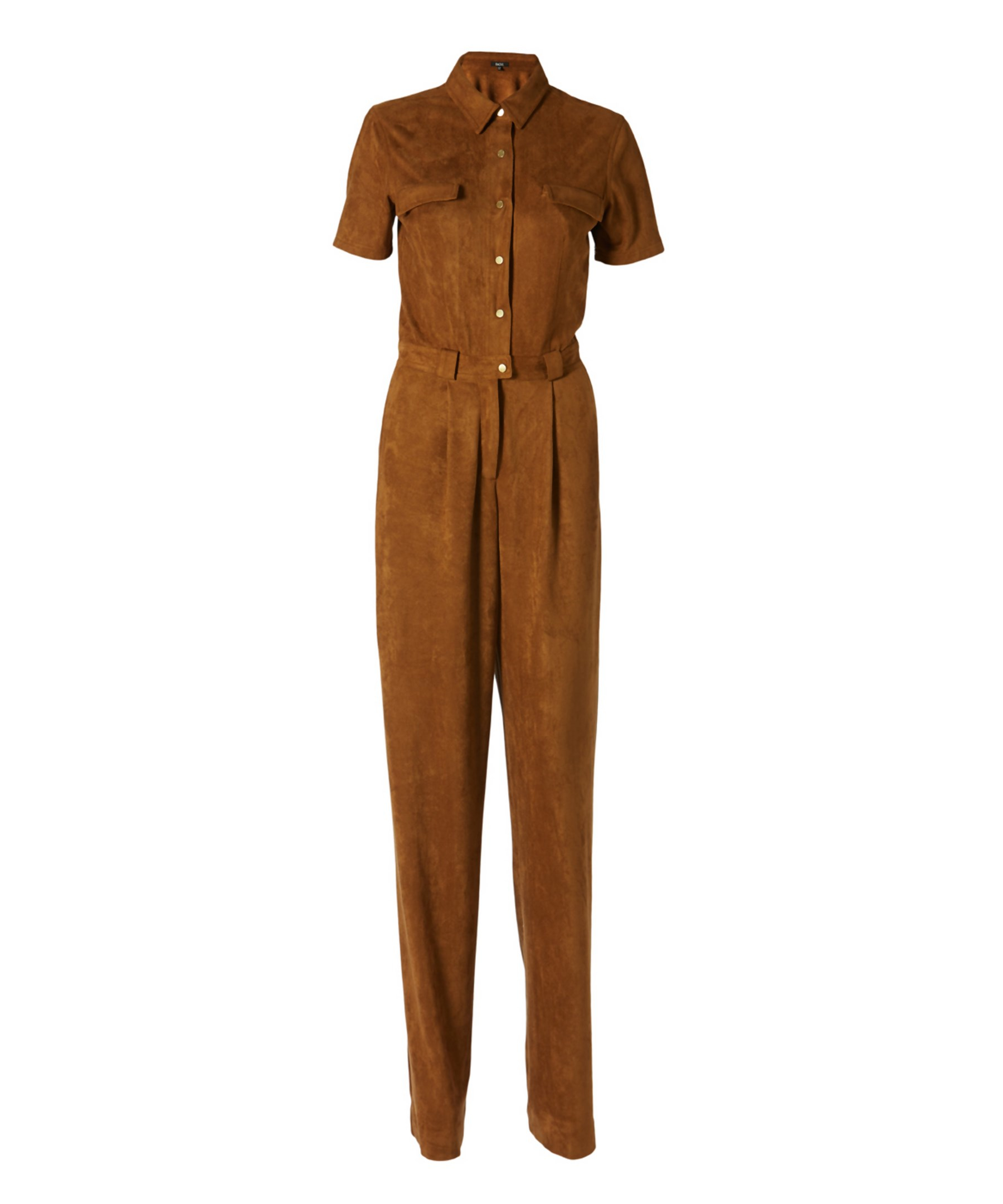 965fb1fdb9 Lyst - Raoul Brunilda Ultra Suede Jumpsuit in Brown