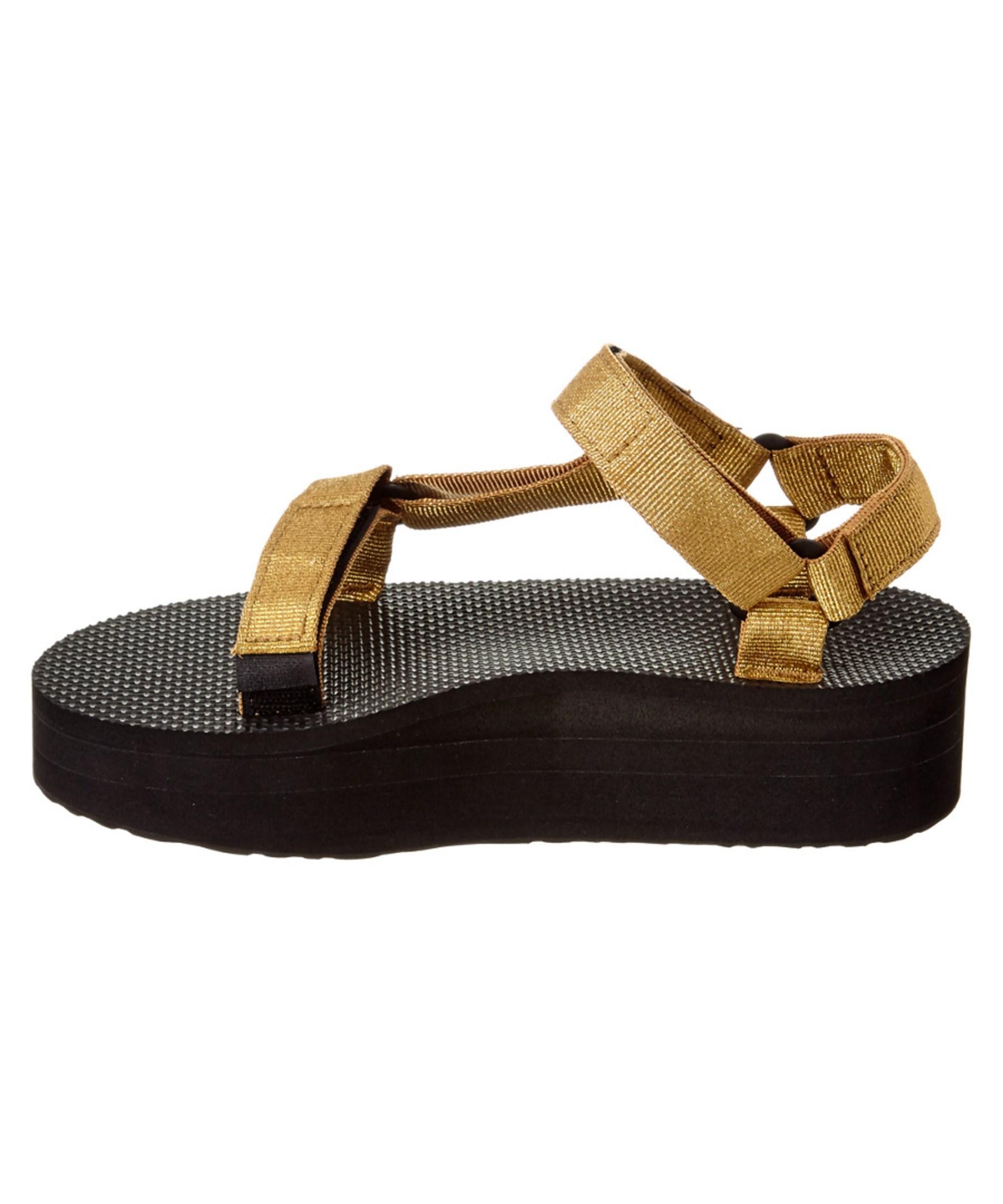 Teva Women's Flatform Universal Sandal in Metallic