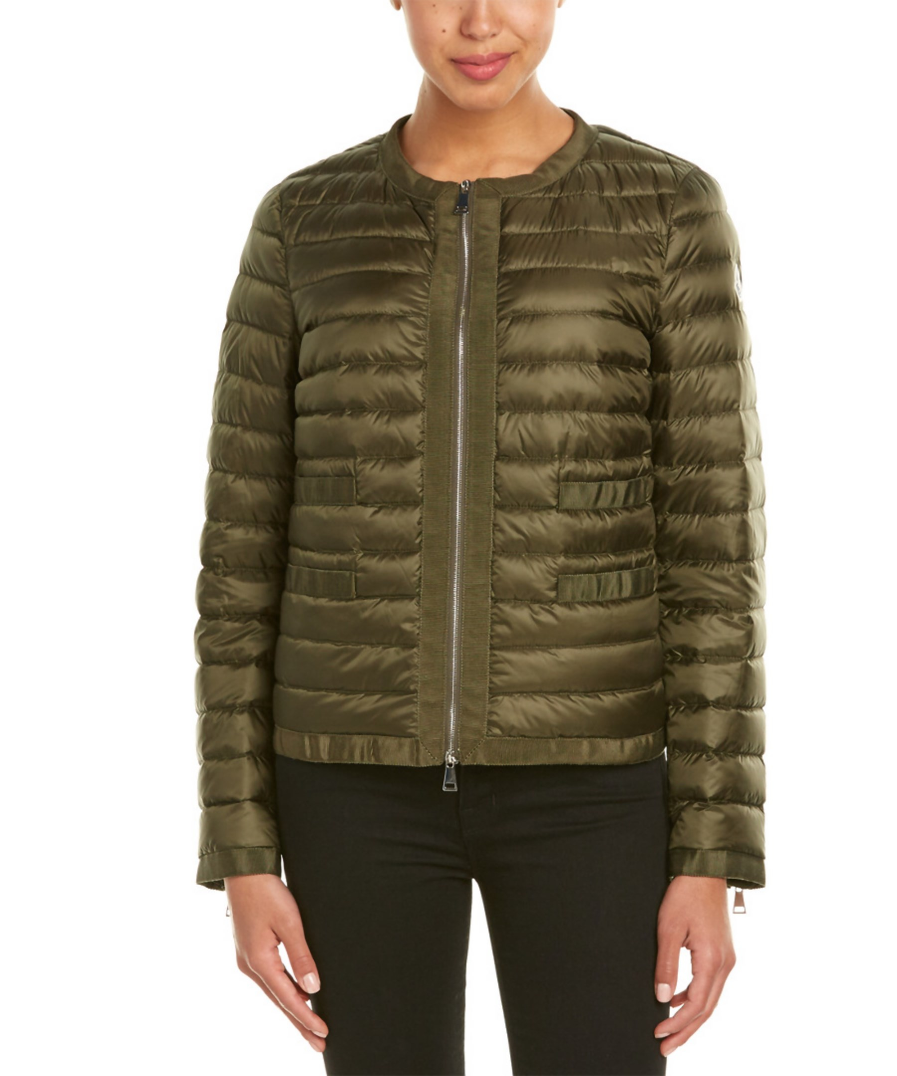 Moncler Alose Quilted Down Jacket In Green Save 16 Lyst
